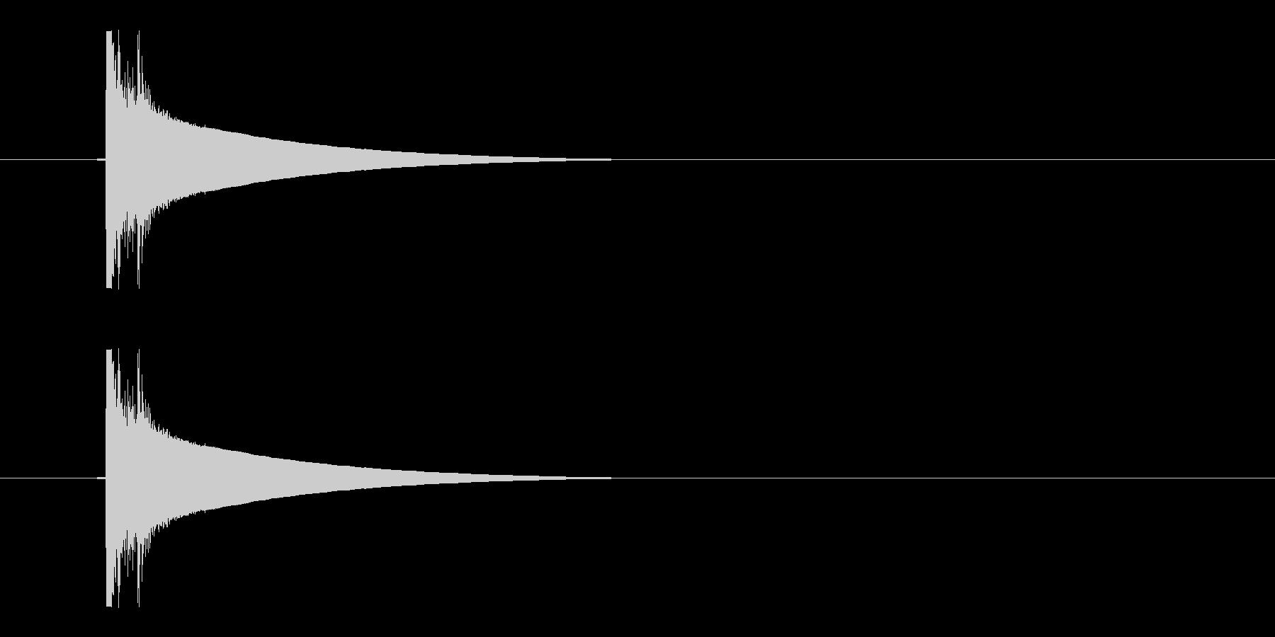 パシの未再生の波形