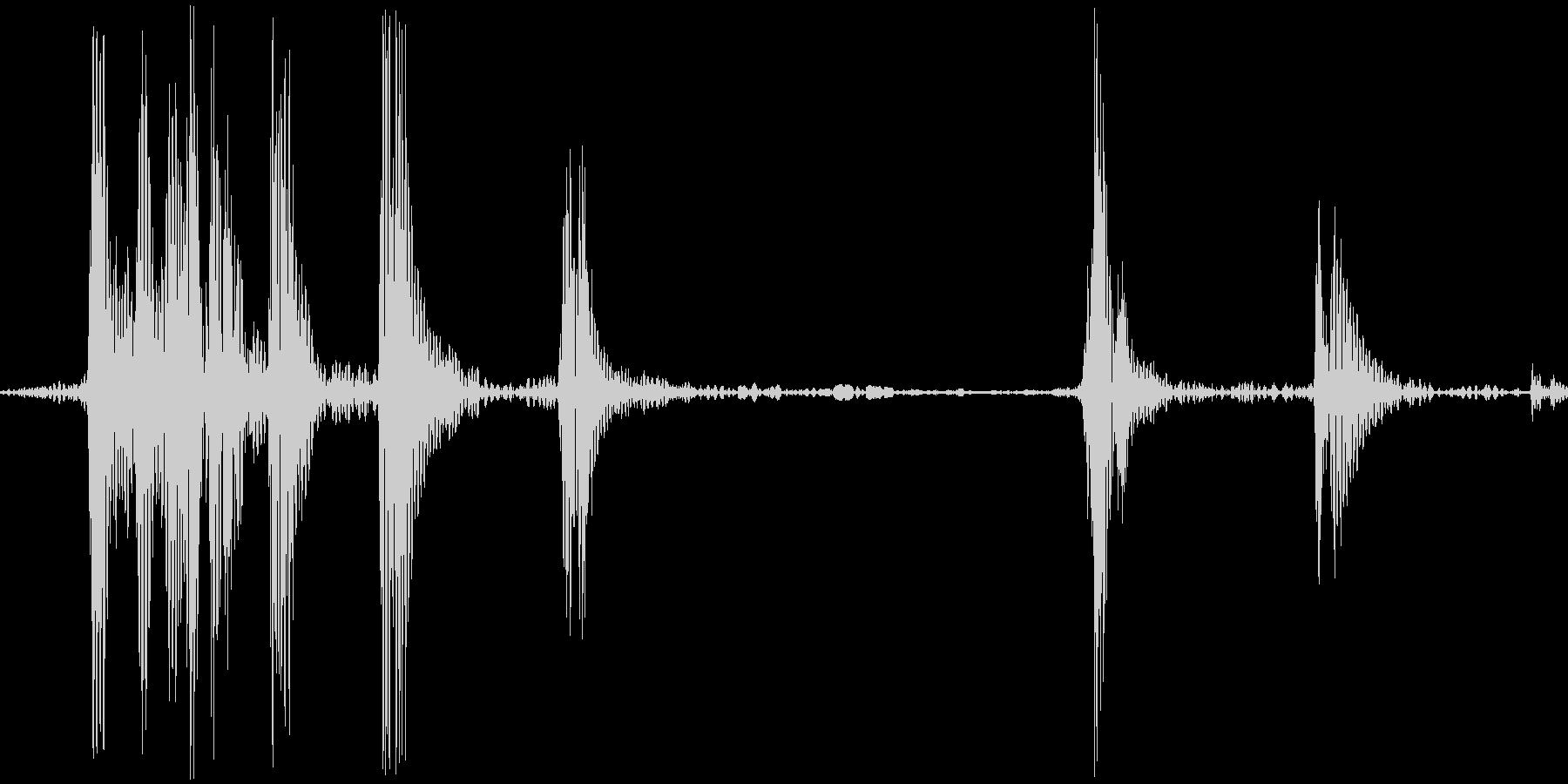 ゲコッ。カエルの鳴き声の未再生の波形