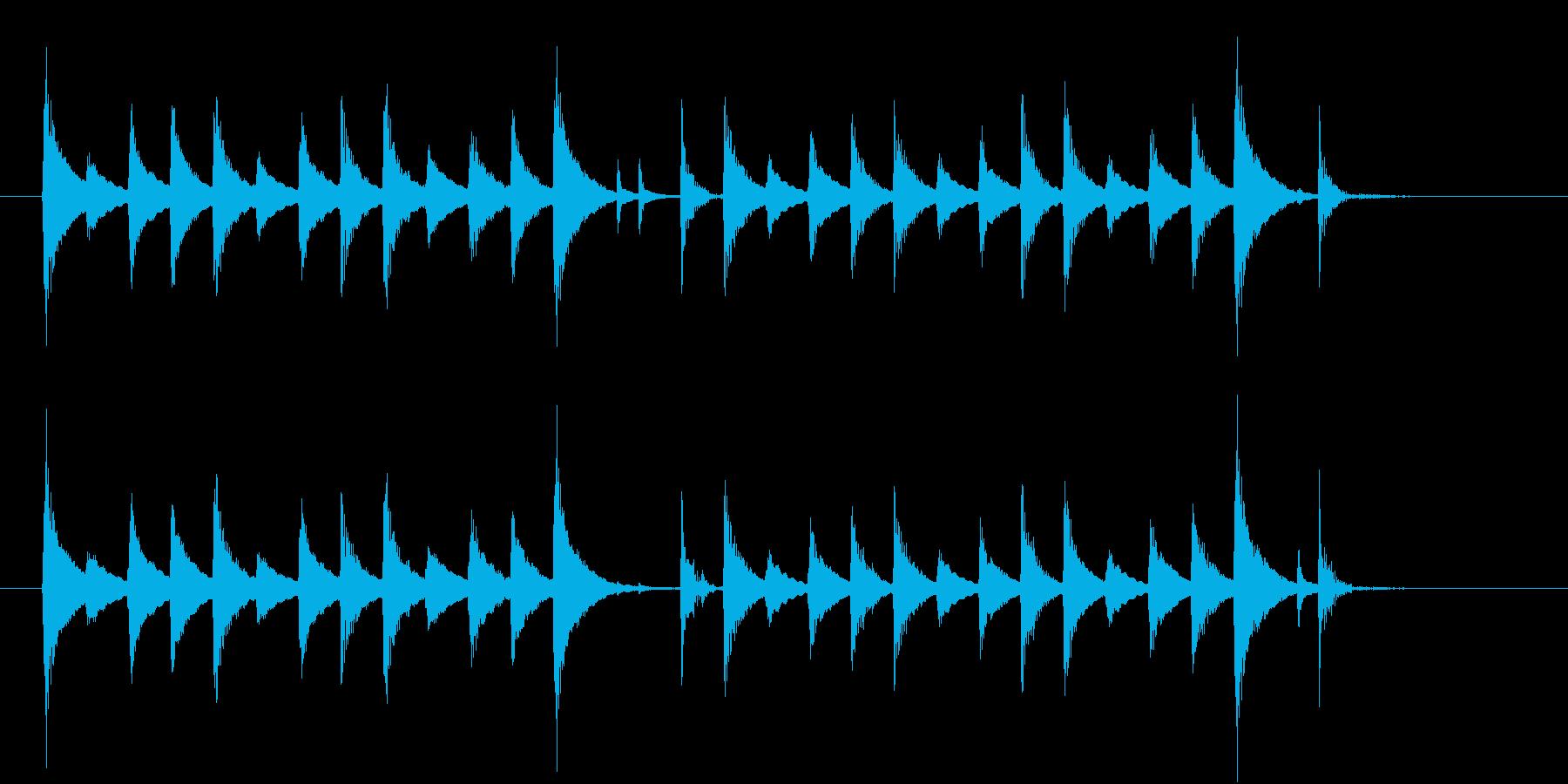 ほのぼの系のシンプルなジングルの再生済みの波形