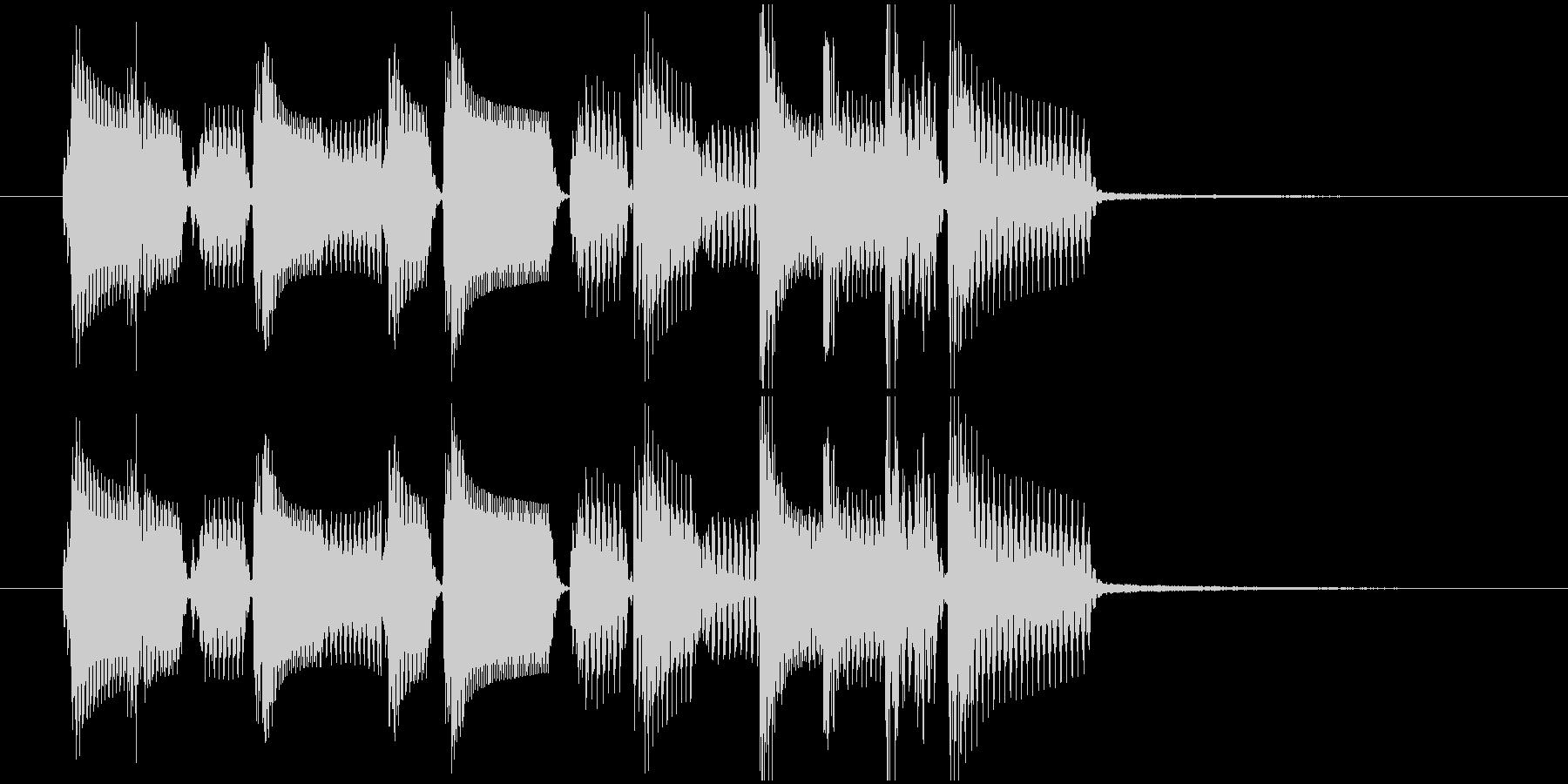 ロックベースとドラムのワイルドなジングルの未再生の波形