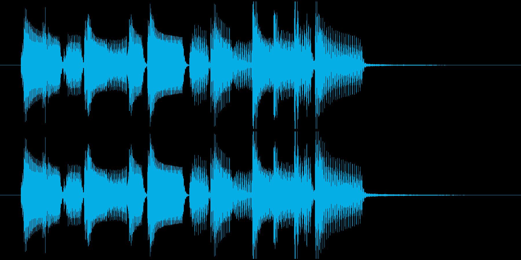 ロックベースとドラムのワイルドなジングルの再生済みの波形