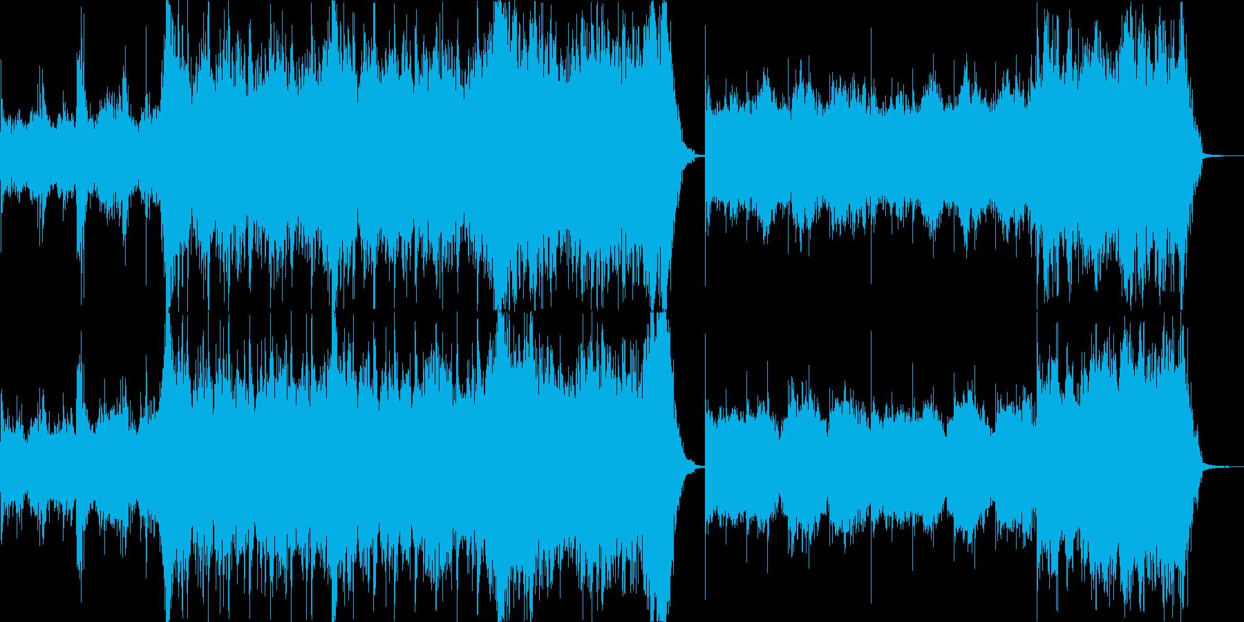 暗く重いハリウッド風オーケストラの再生済みの波形