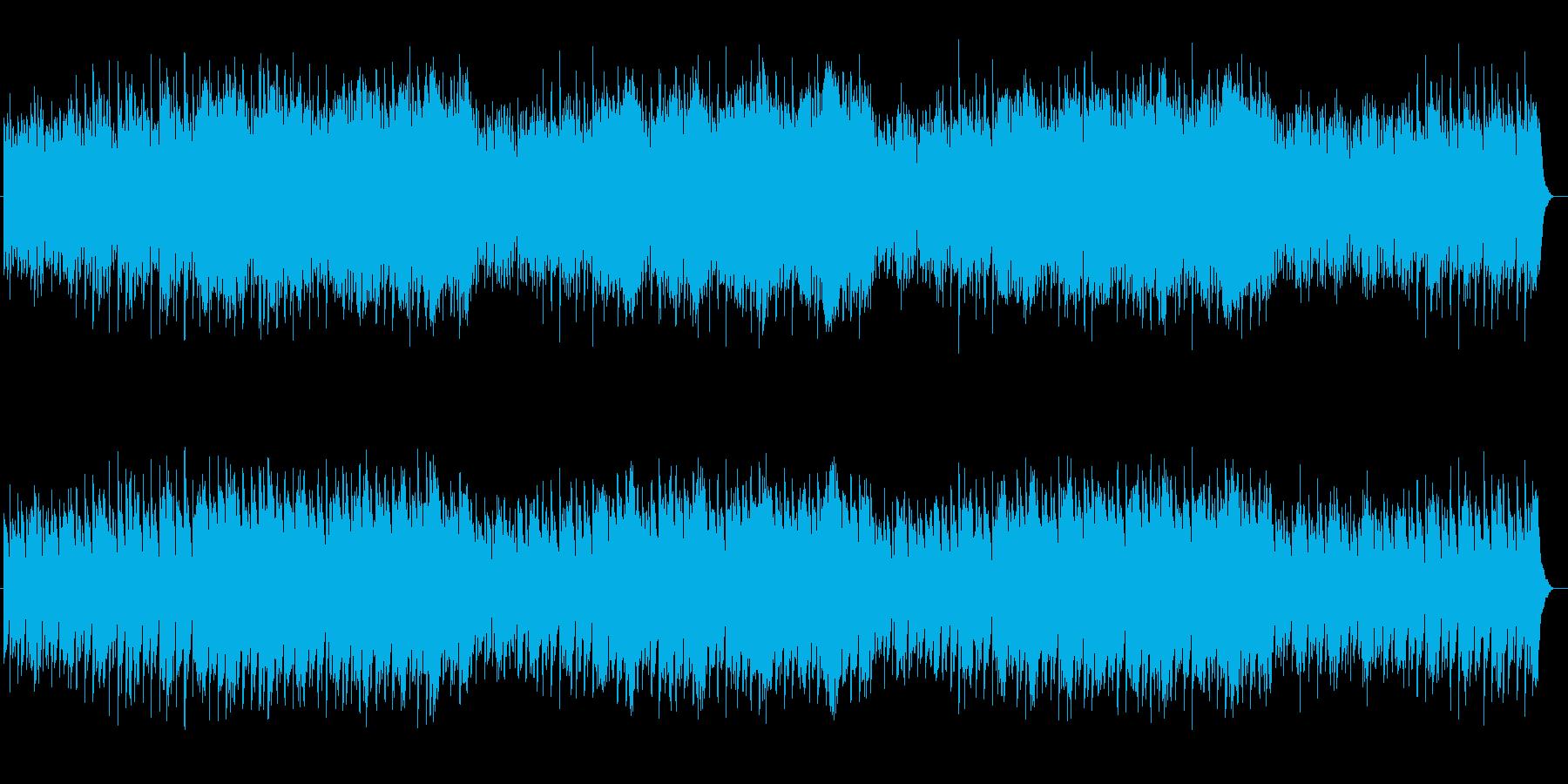 情緒とドラマ感のあるシンセサウンドの再生済みの波形