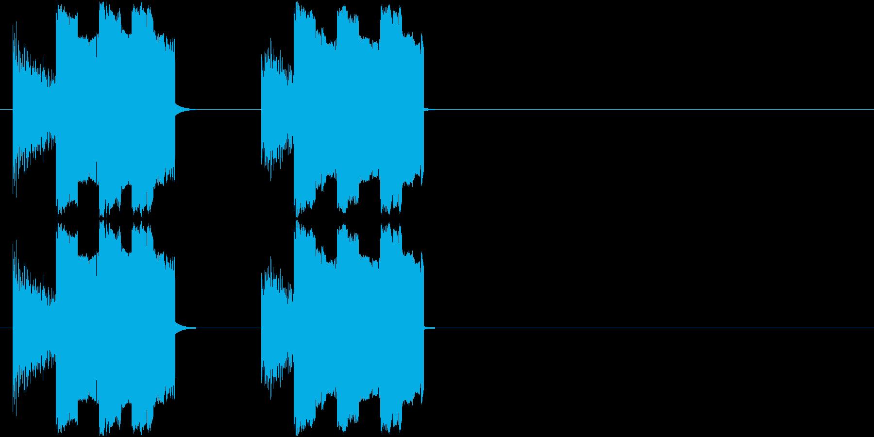 8Bit_ザシュザシュ!の再生済みの波形