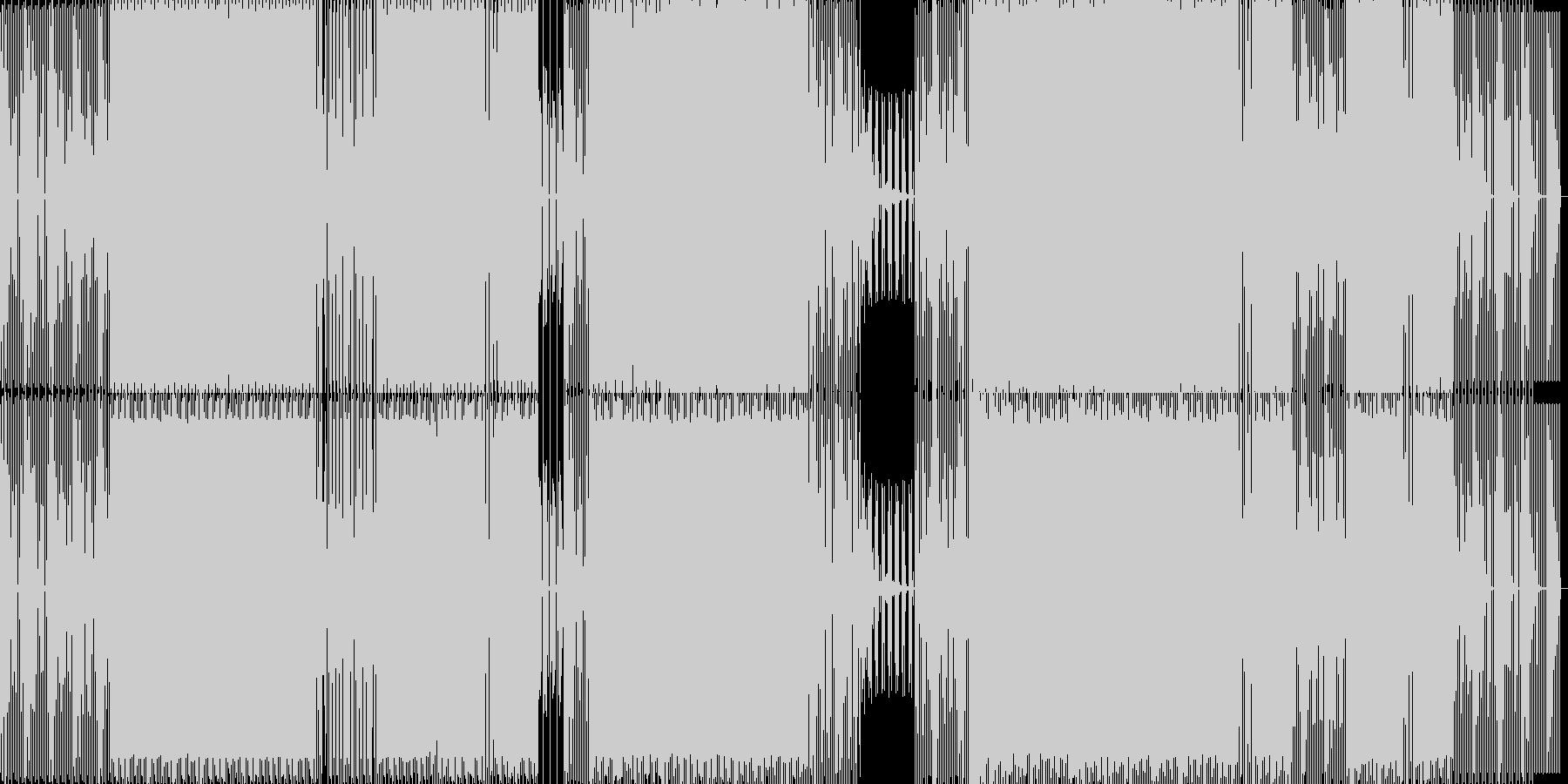 跳ねてるミニマルハウスの未再生の波形