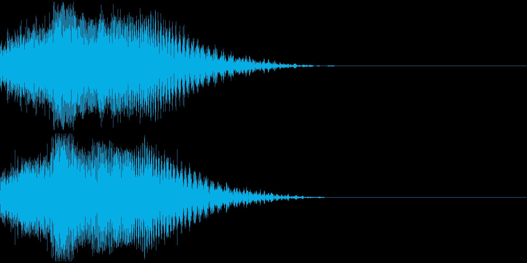 ビーム・レーザ音の再生済みの波形