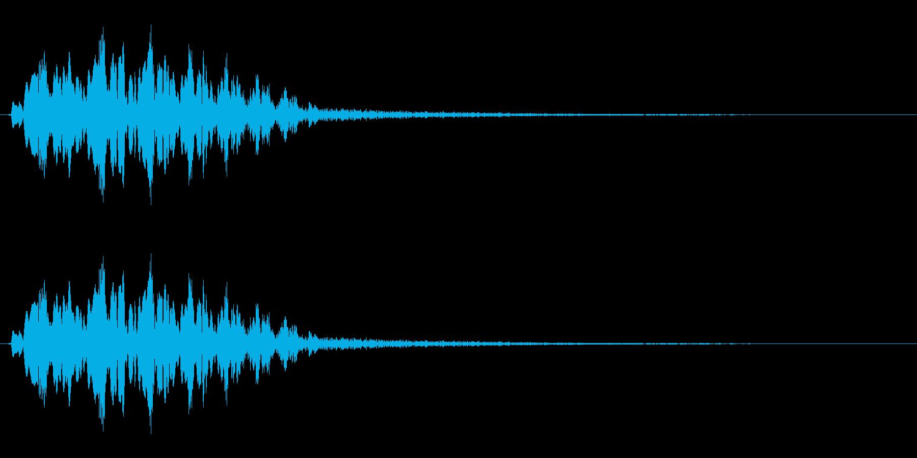 不思議、閃きなどのイメージ(キュルル)の再生済みの波形