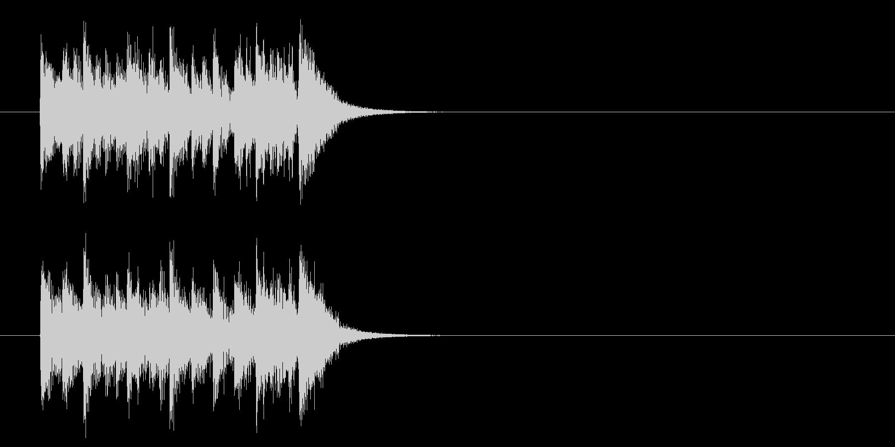 キュー・アタック風ポップスのジングルの未再生の波形