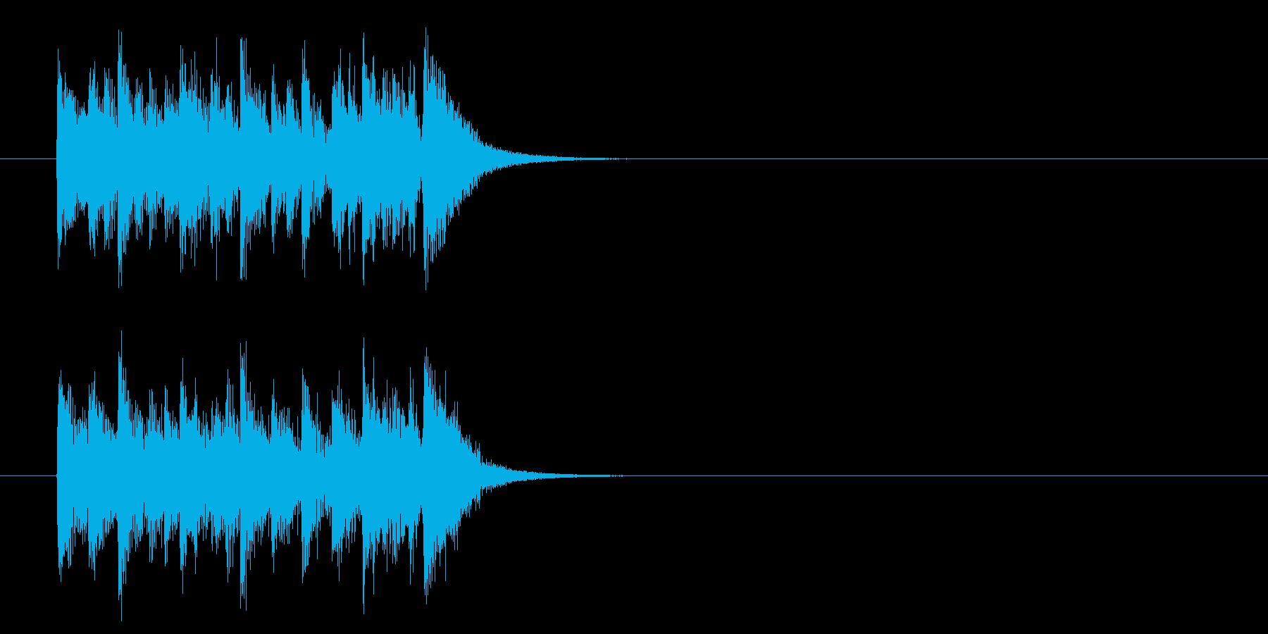 キュー・アタック風ポップスのジングルの再生済みの波形