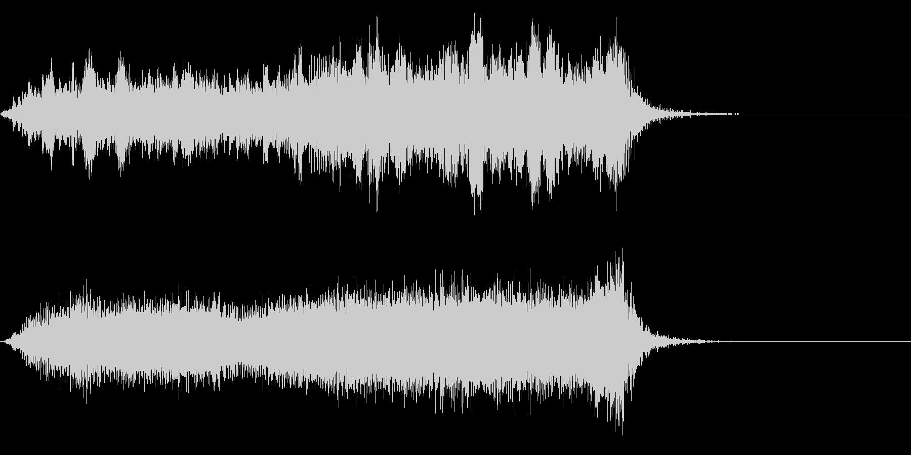 ワープ 宇宙的 未来的な効果音 01bの未再生の波形