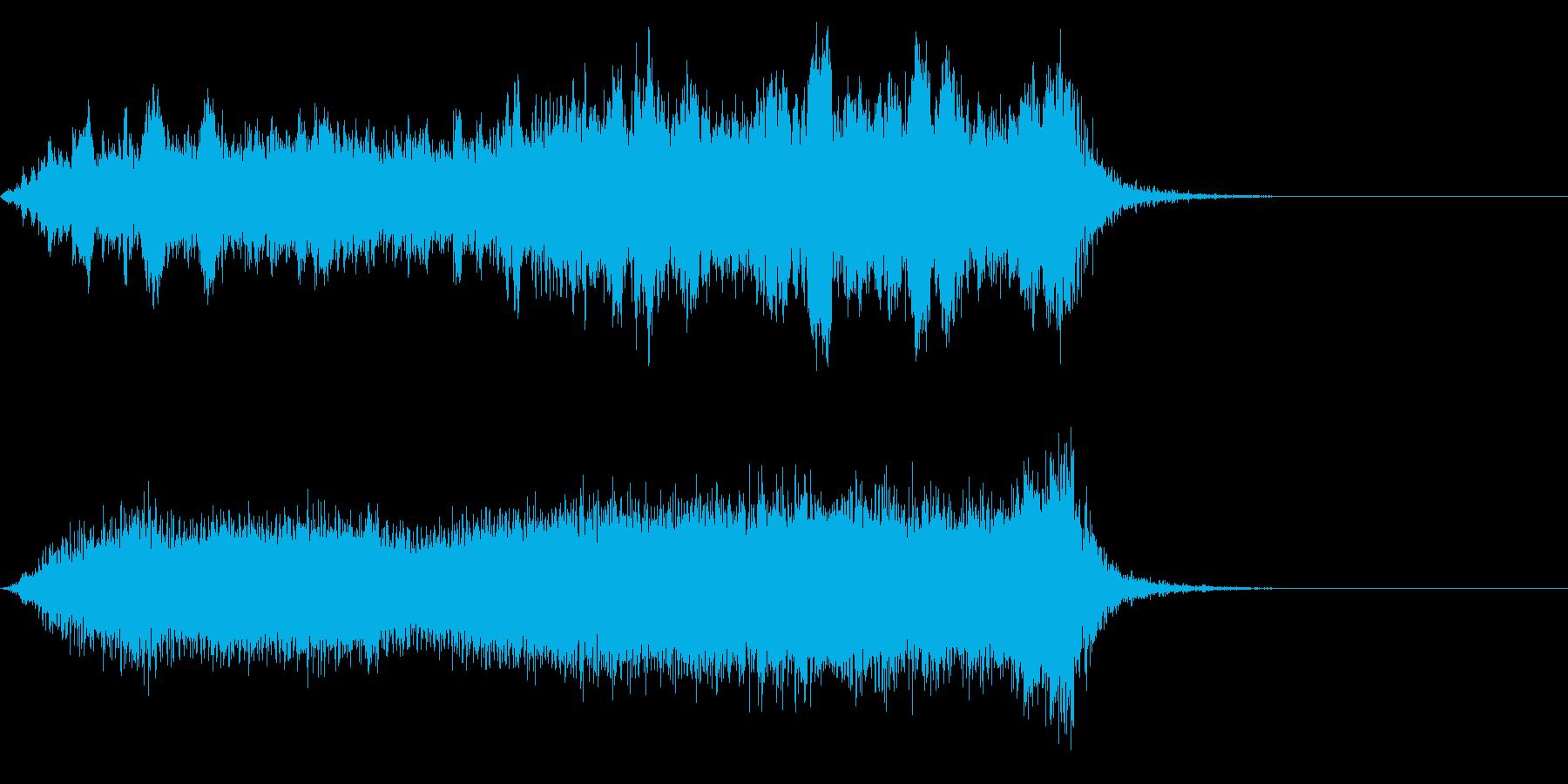 ワープ 宇宙的 未来的な効果音 01bの再生済みの波形