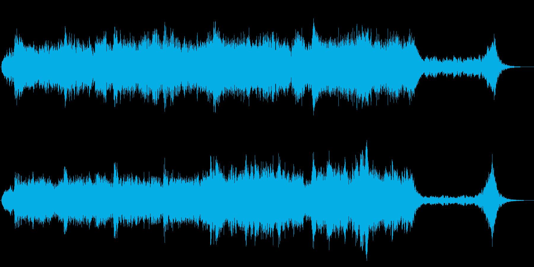 ドキュメンタリー番組風のエンディング曲の再生済みの波形