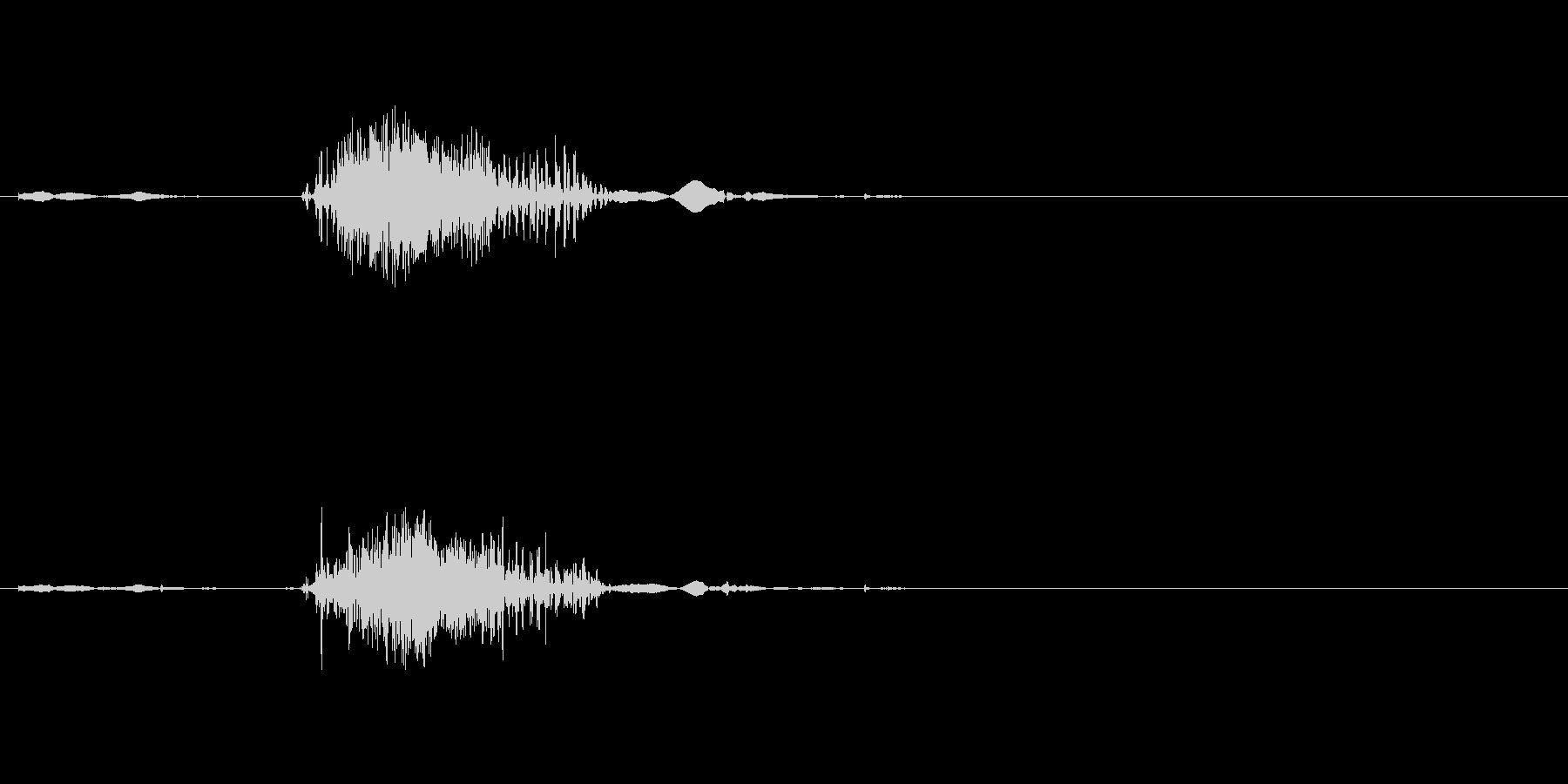 ファスナーの音ですの未再生の波形