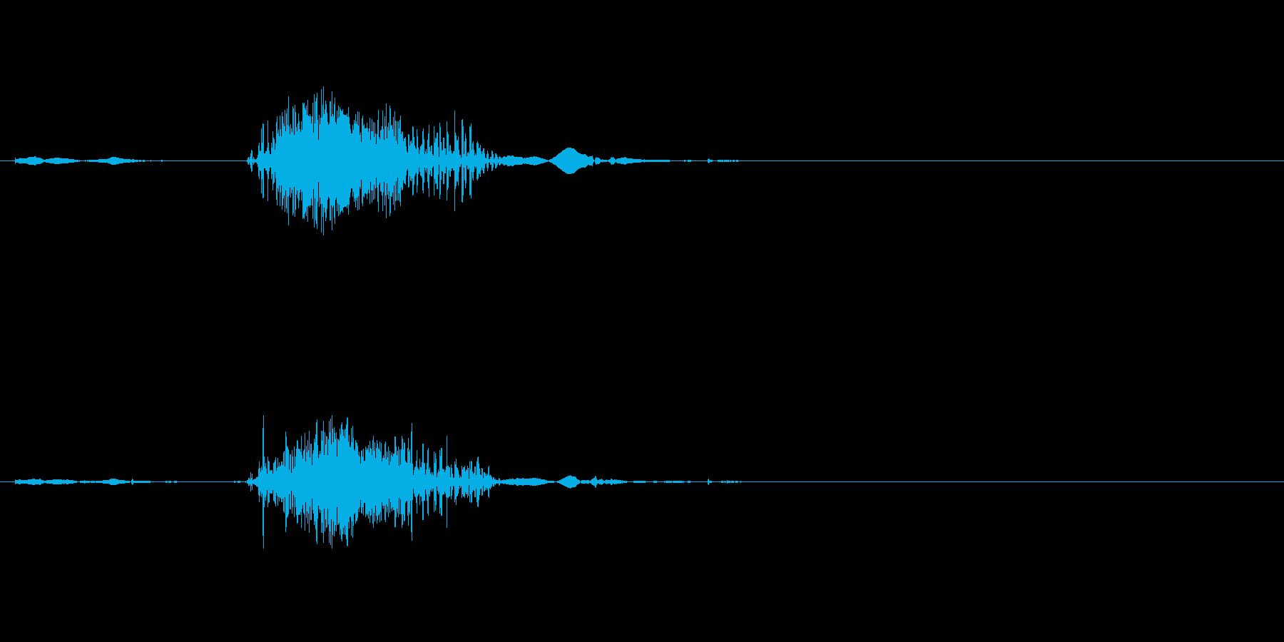 ファスナーの音ですの再生済みの波形