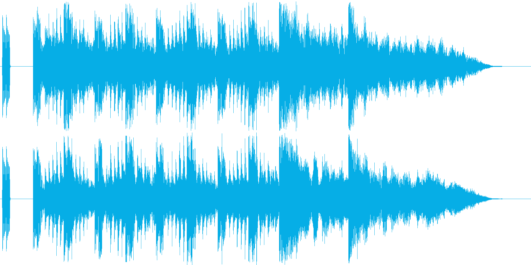 どきどき感のあるシンセ短めサウンドの再生済みの波形