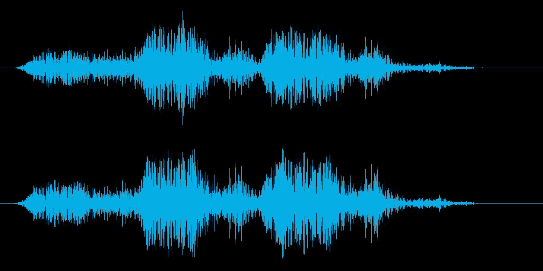 災害 崖崩れ 地震 ゴゴゴ... 長めの再生済みの波形