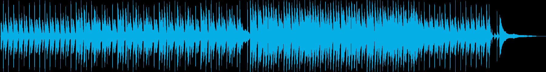 ハッピー&ポジティブで高揚感のあるBGMの再生済みの波形