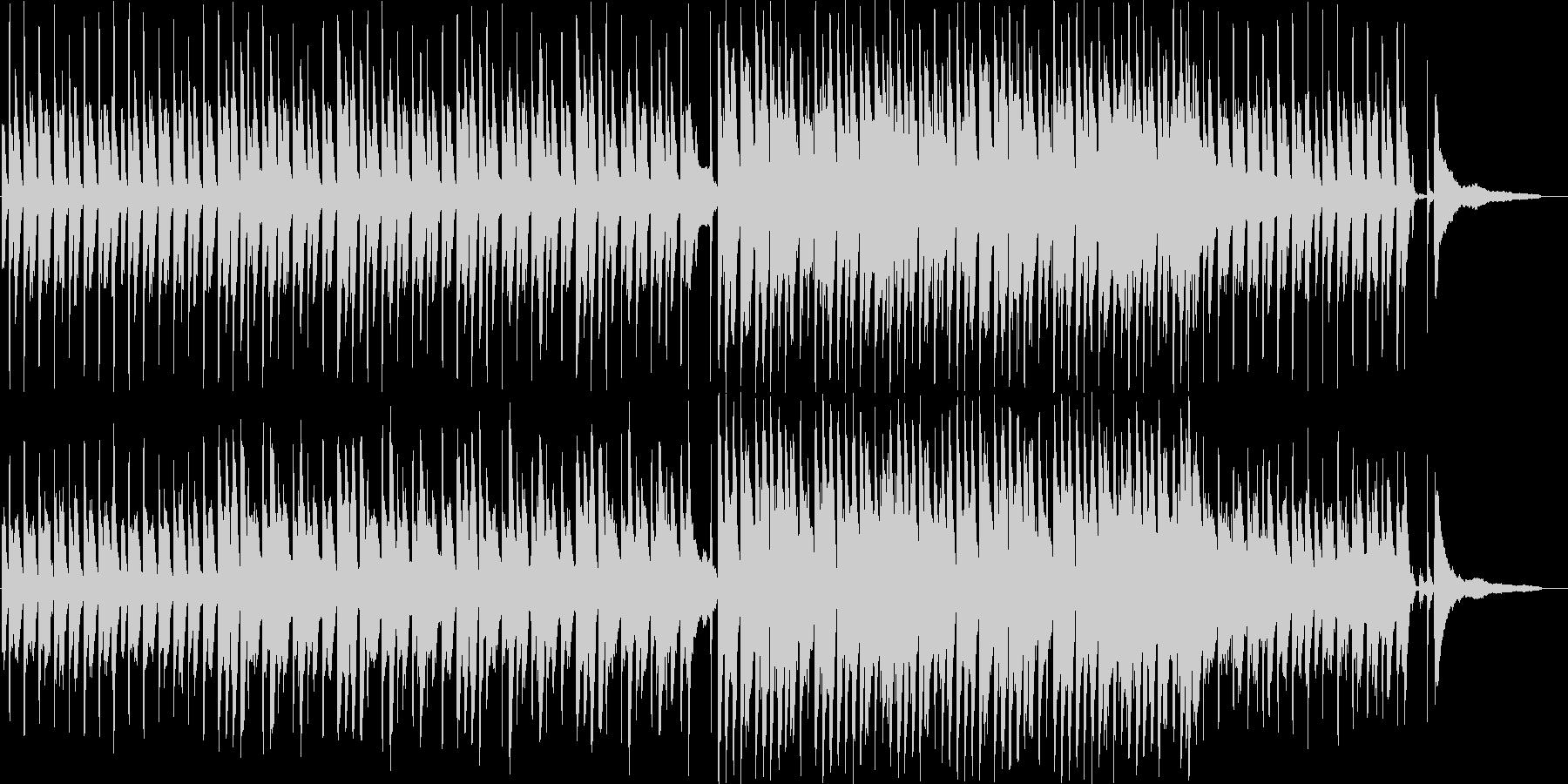ハッピー&ポジティブで高揚感のあるBGMの未再生の波形