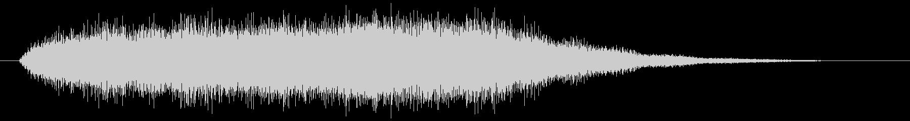 オルガンの和音が広がる音の未再生の波形