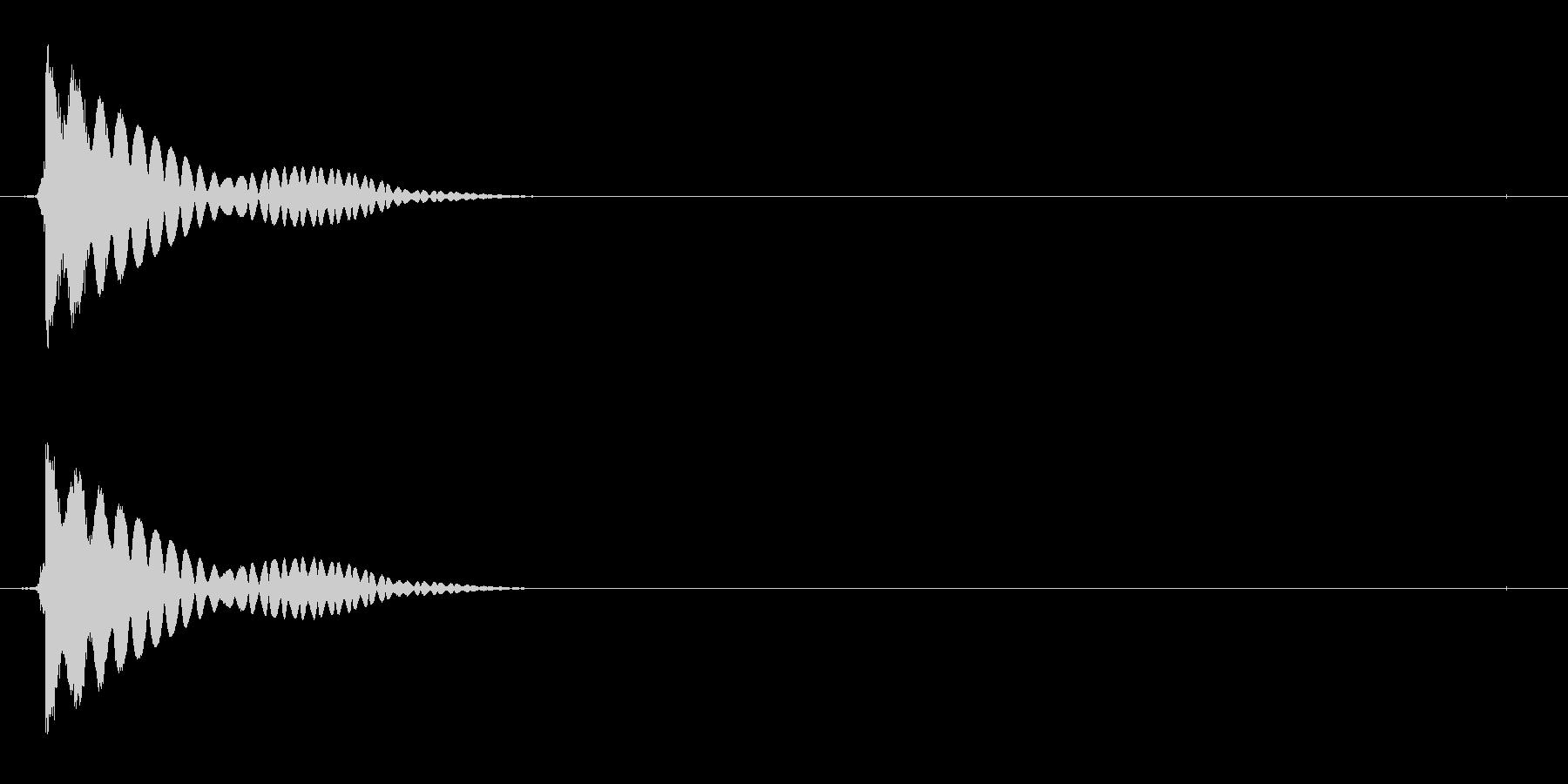 電子機器の起動音(ジュイーン)の未再生の波形