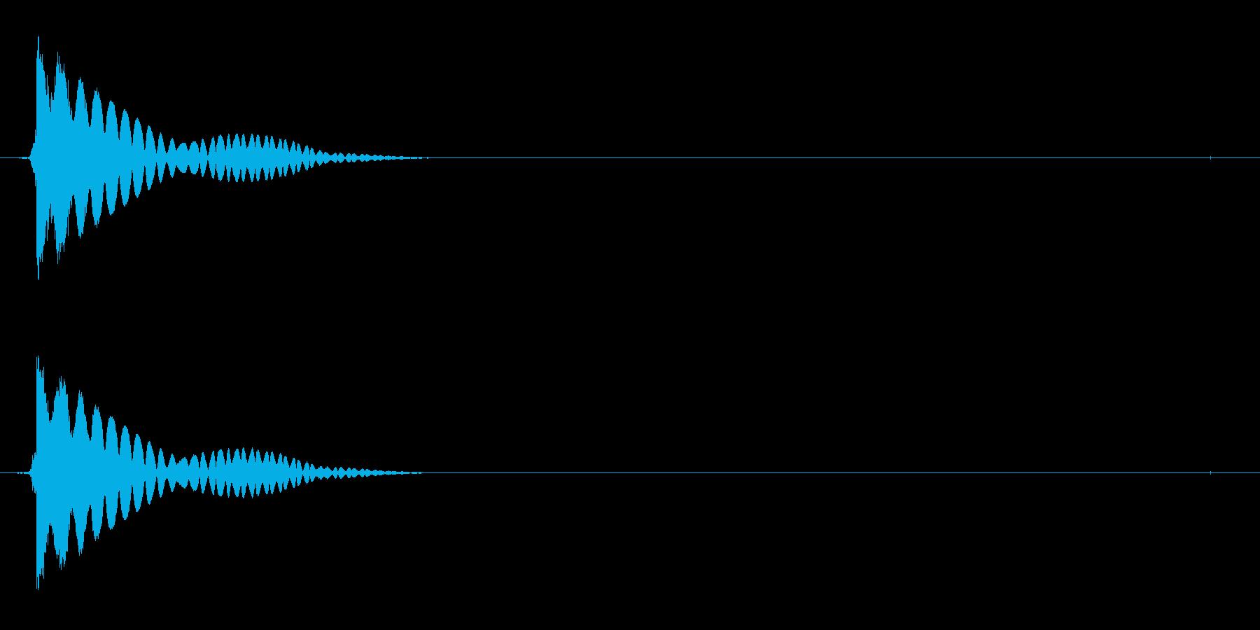 電子機器の起動音(ジュイーン)の再生済みの波形