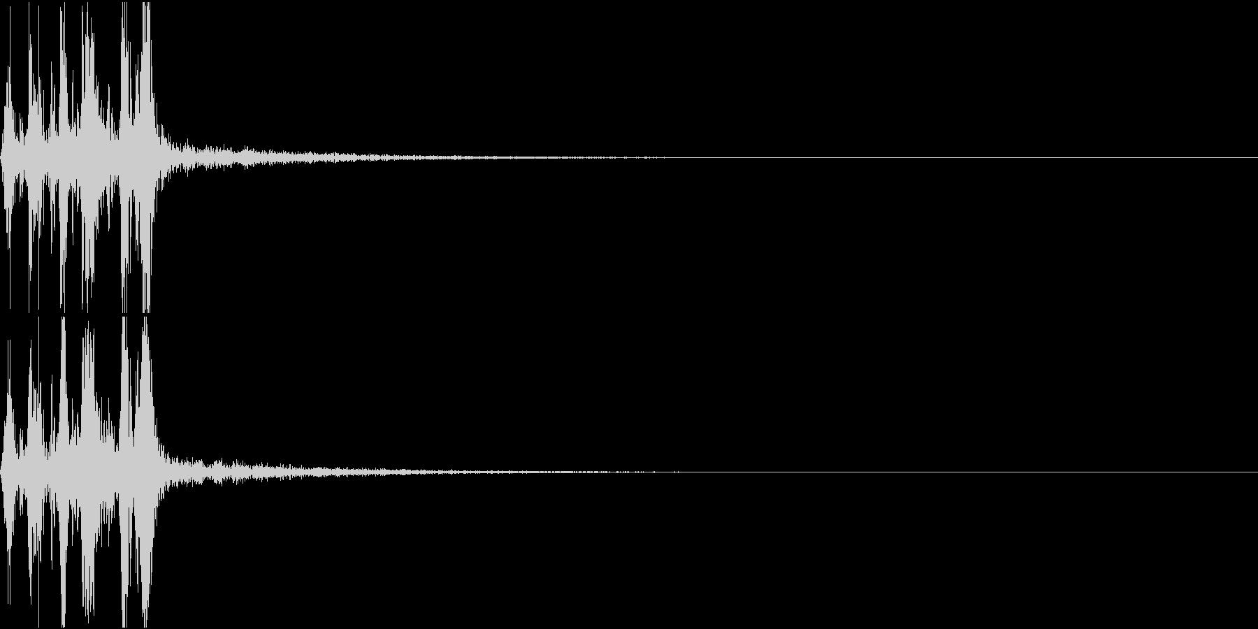 Camera 室内撮影 シャッター音 8の未再生の波形