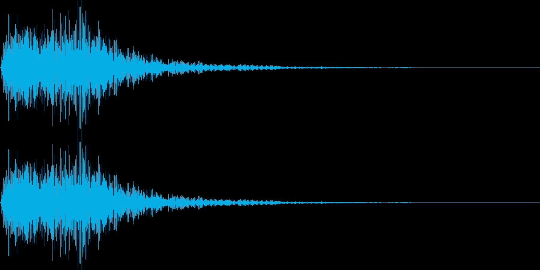 デデーン1 (クイズ出題系 音程低め)の再生済みの波形