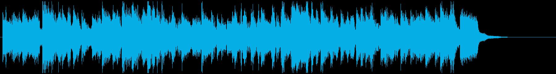 凛々しい生音系ファンク◆CM向け15秒曲の再生済みの波形