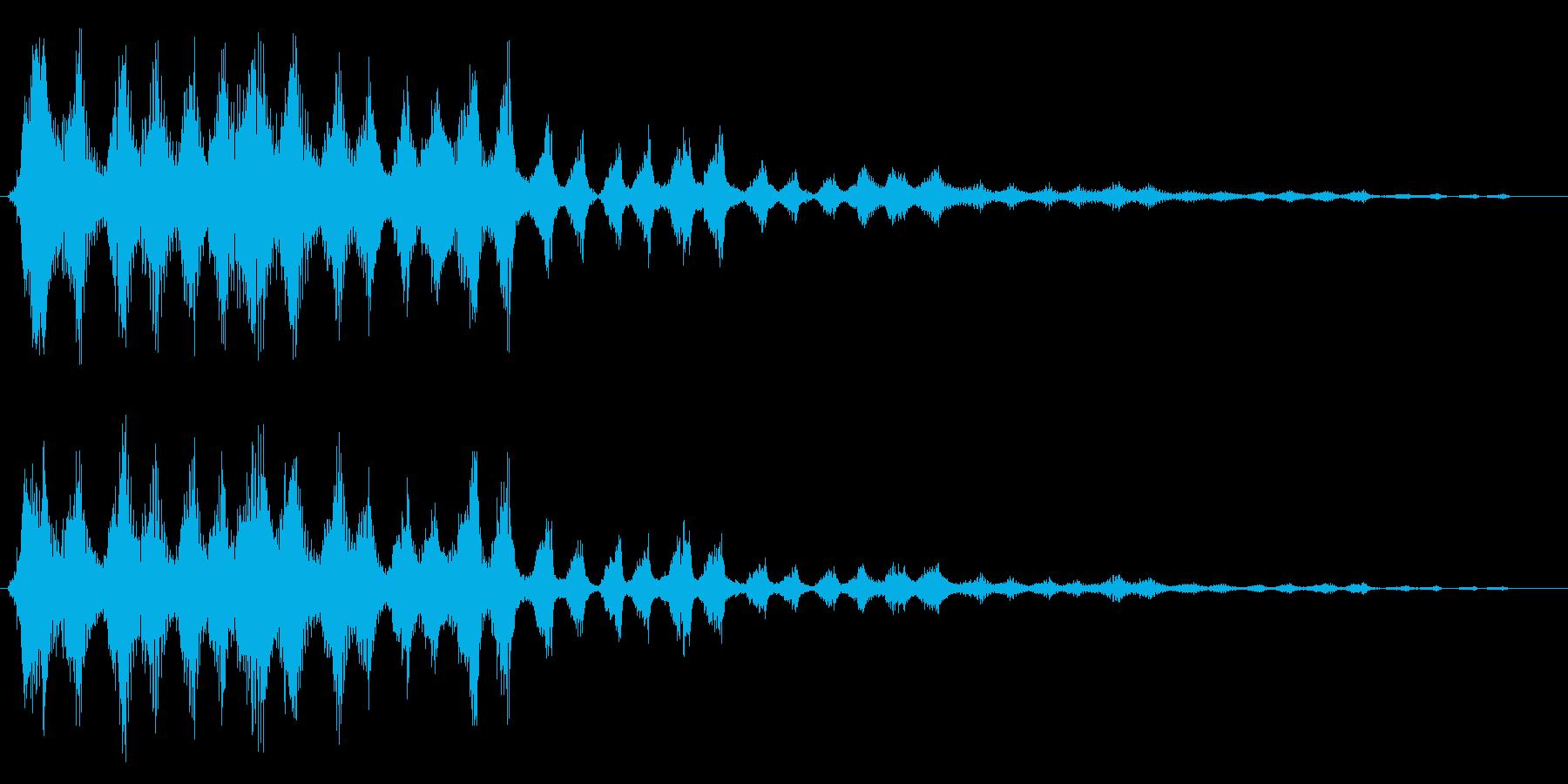 キュルルル(絡みつく)の再生済みの波形