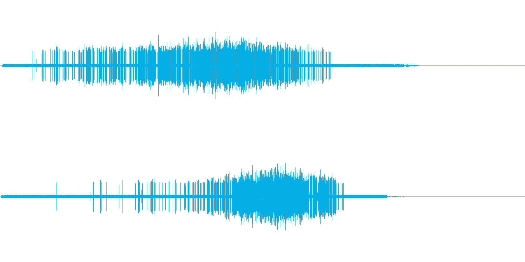 ヒュイ(縛る)の再生済みの波形