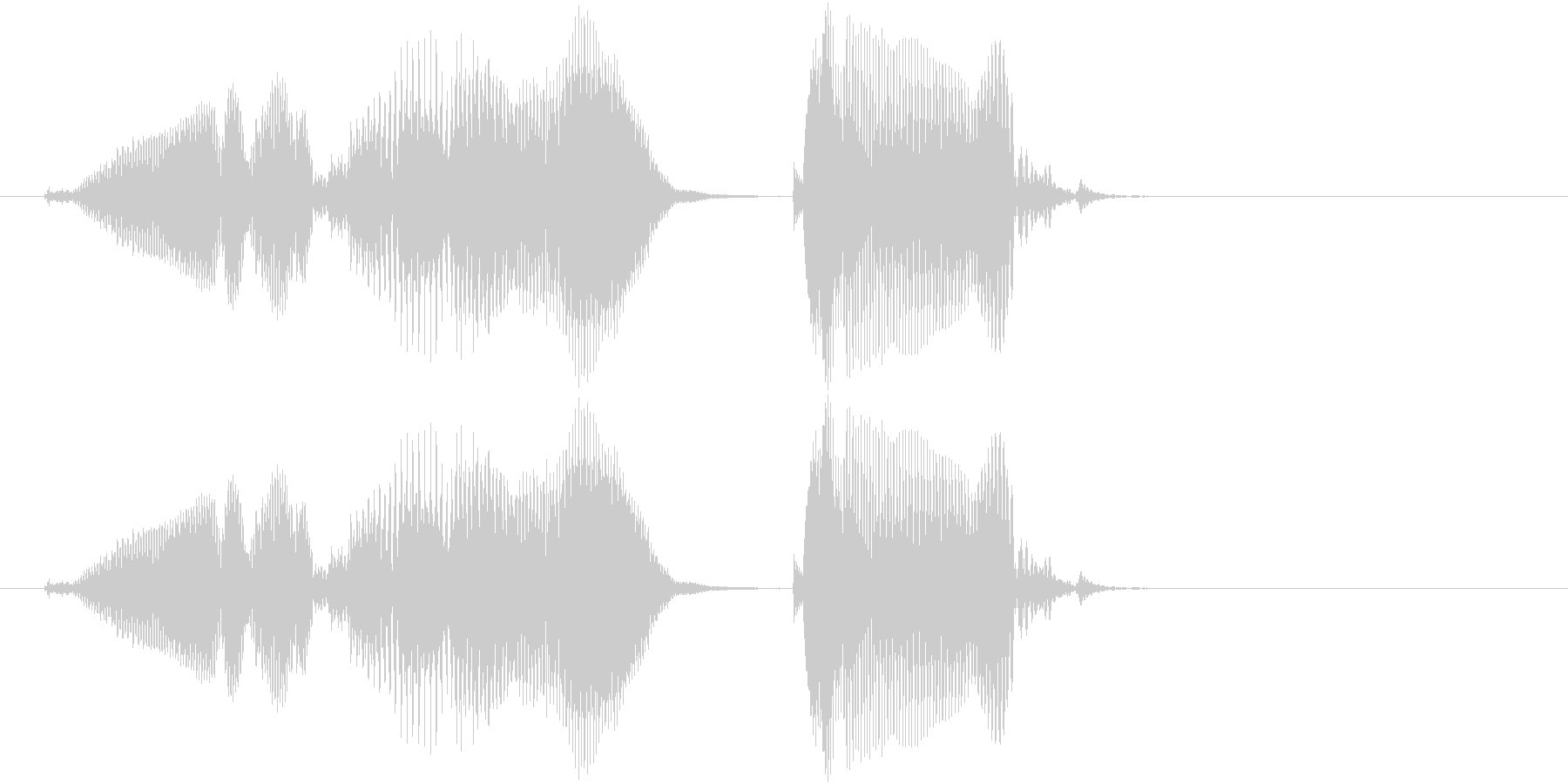 遊技機ゲーム用女性ボイス「グレイト」の未再生の波形
