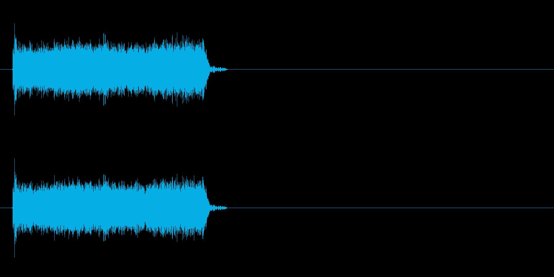 ロック曲等に使えるエレキギター効果音3の再生済みの波形