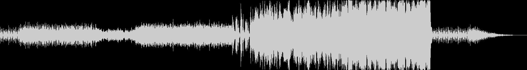 オーケストラ マイナー調の行進曲風の未再生の波形