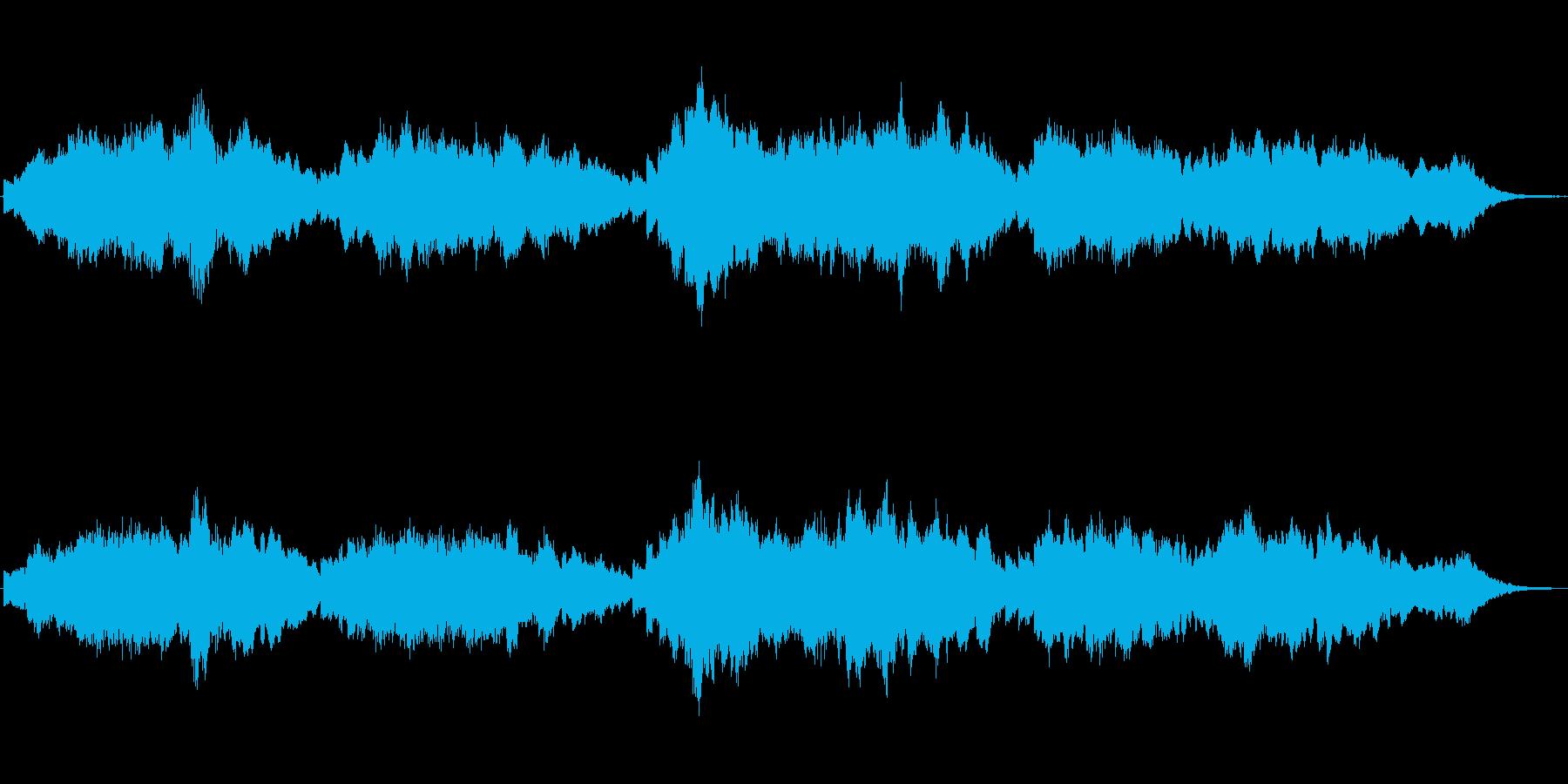 キラキラしたシンセによるメルヘンの世界の再生済みの波形