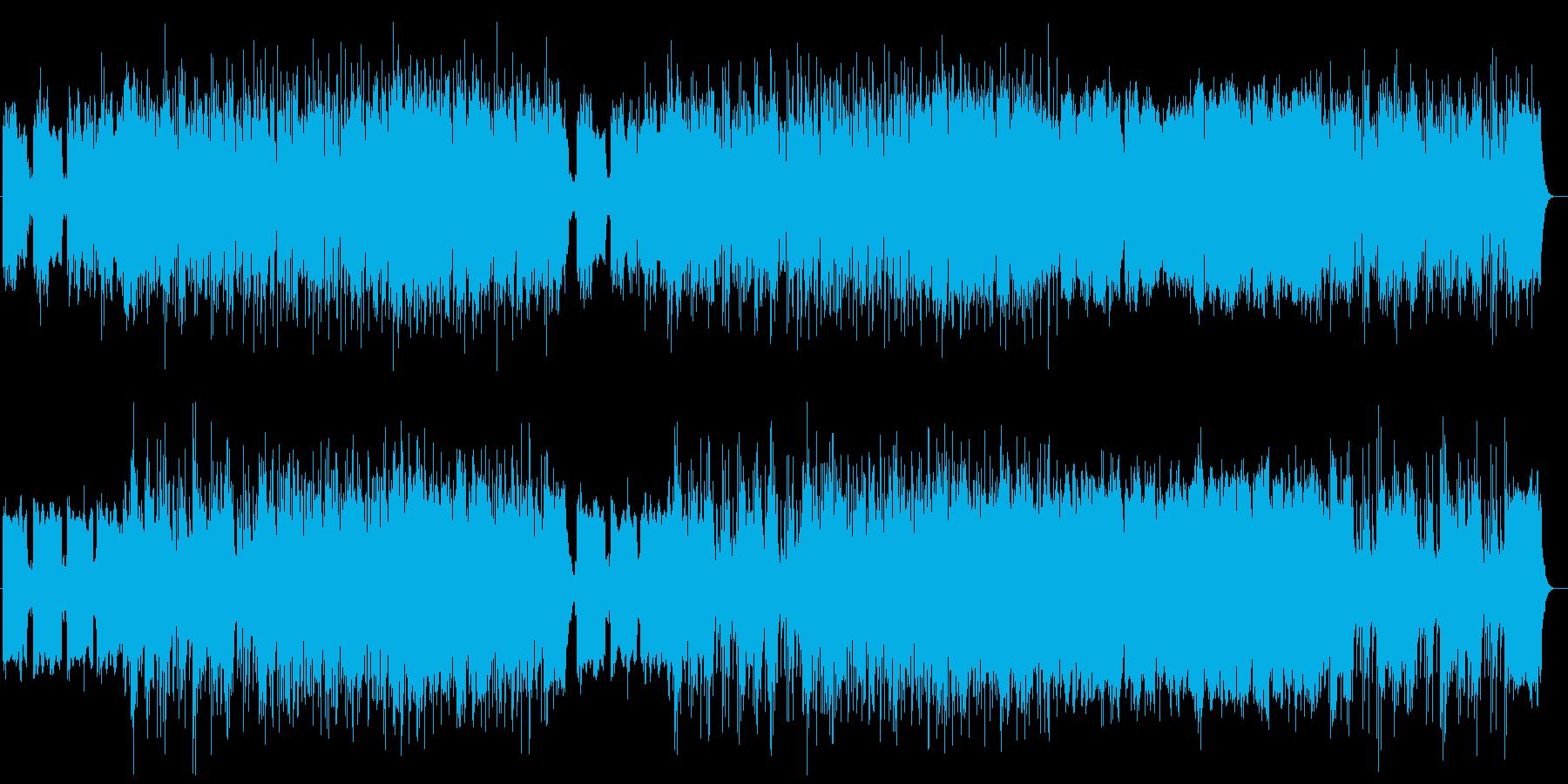 勢いあるドラマティックなシンセサウンドの再生済みの波形