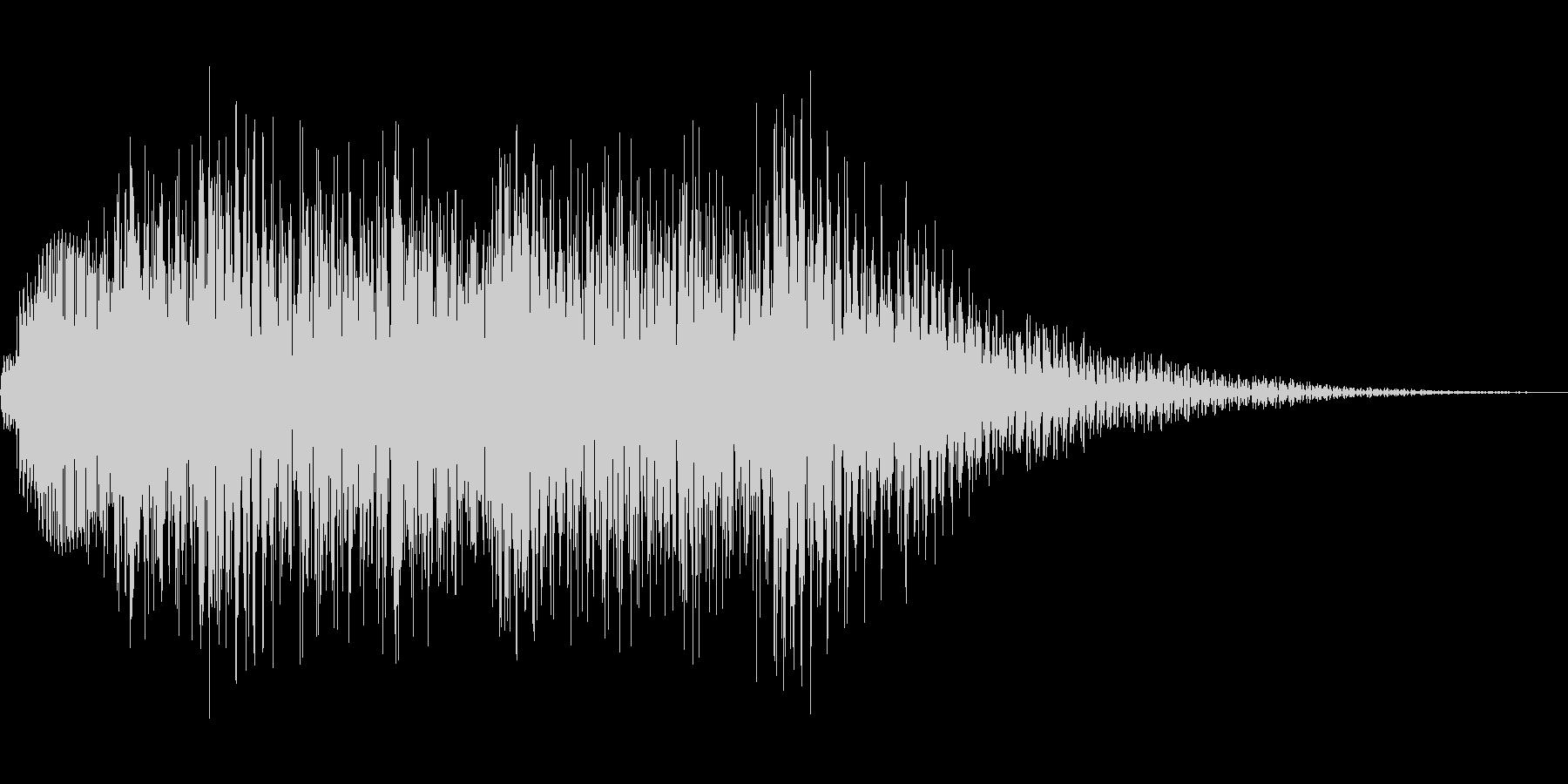 木琴アルペジオの未再生の波形
