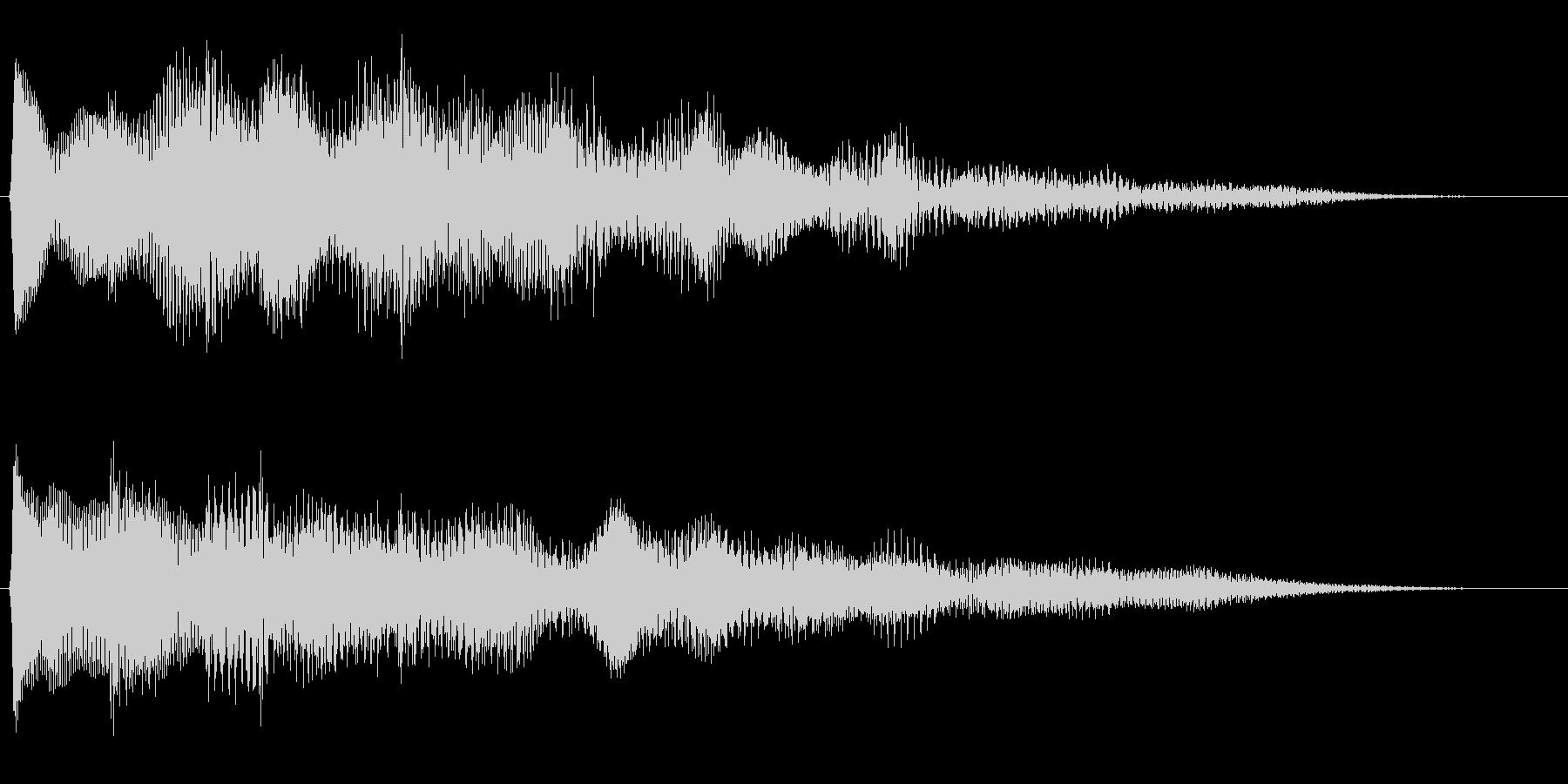 キラキラリーン/美しいリバーブベル上昇音の未再生の波形
