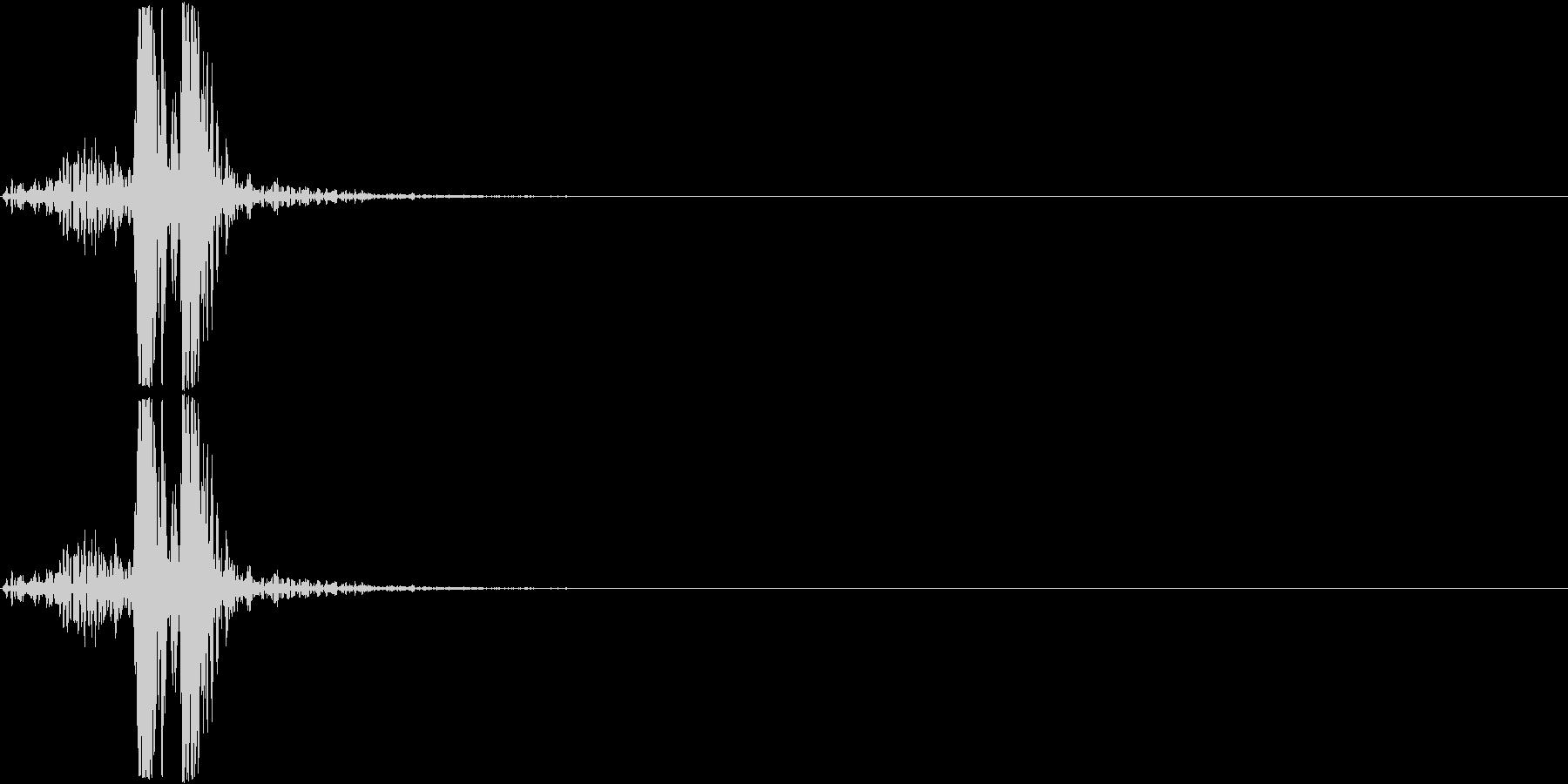 スイッチ、ボタン、クリック(カチュン)の未再生の波形