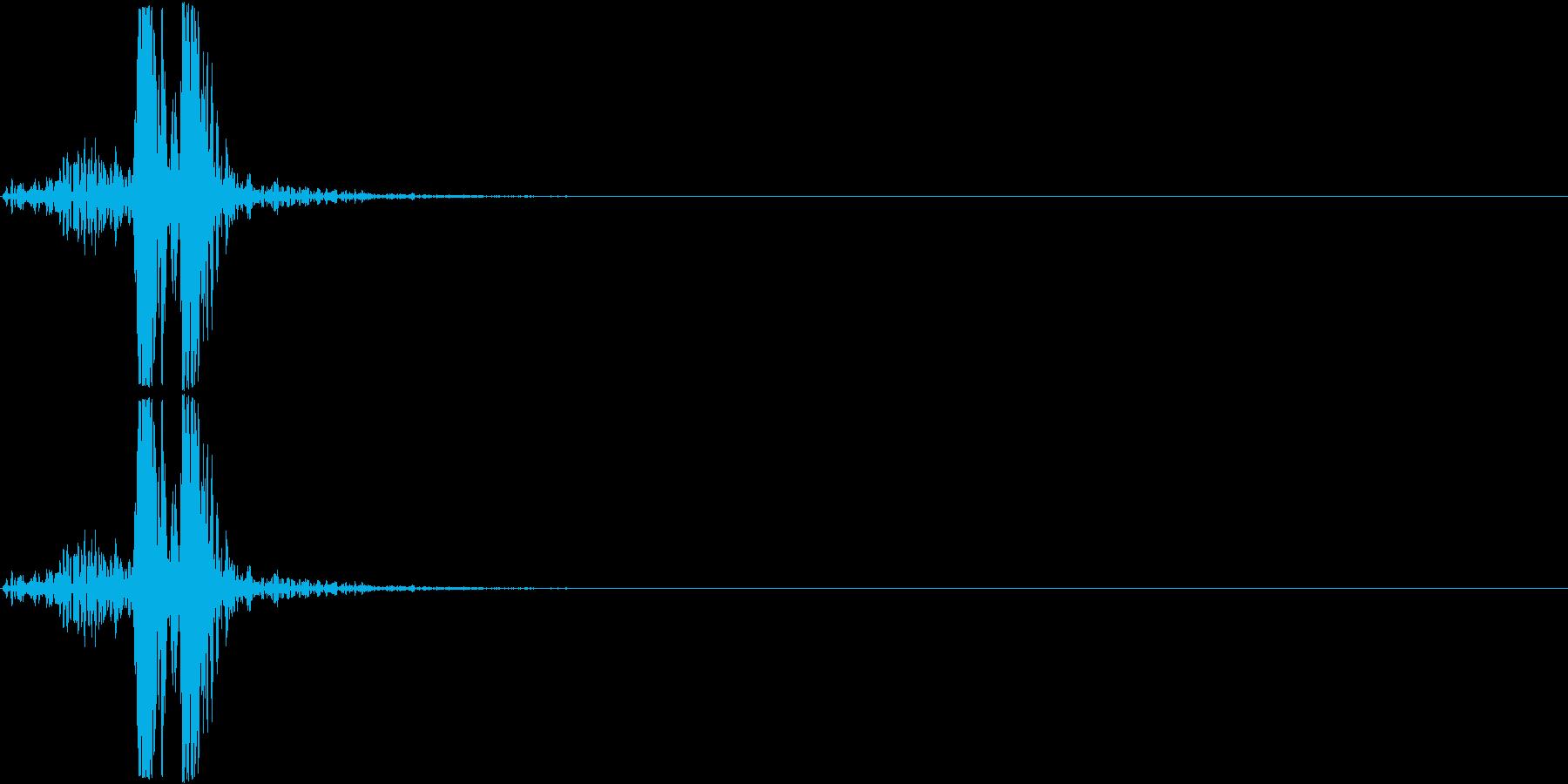 スイッチ、ボタン、クリック(カチュン)の再生済みの波形
