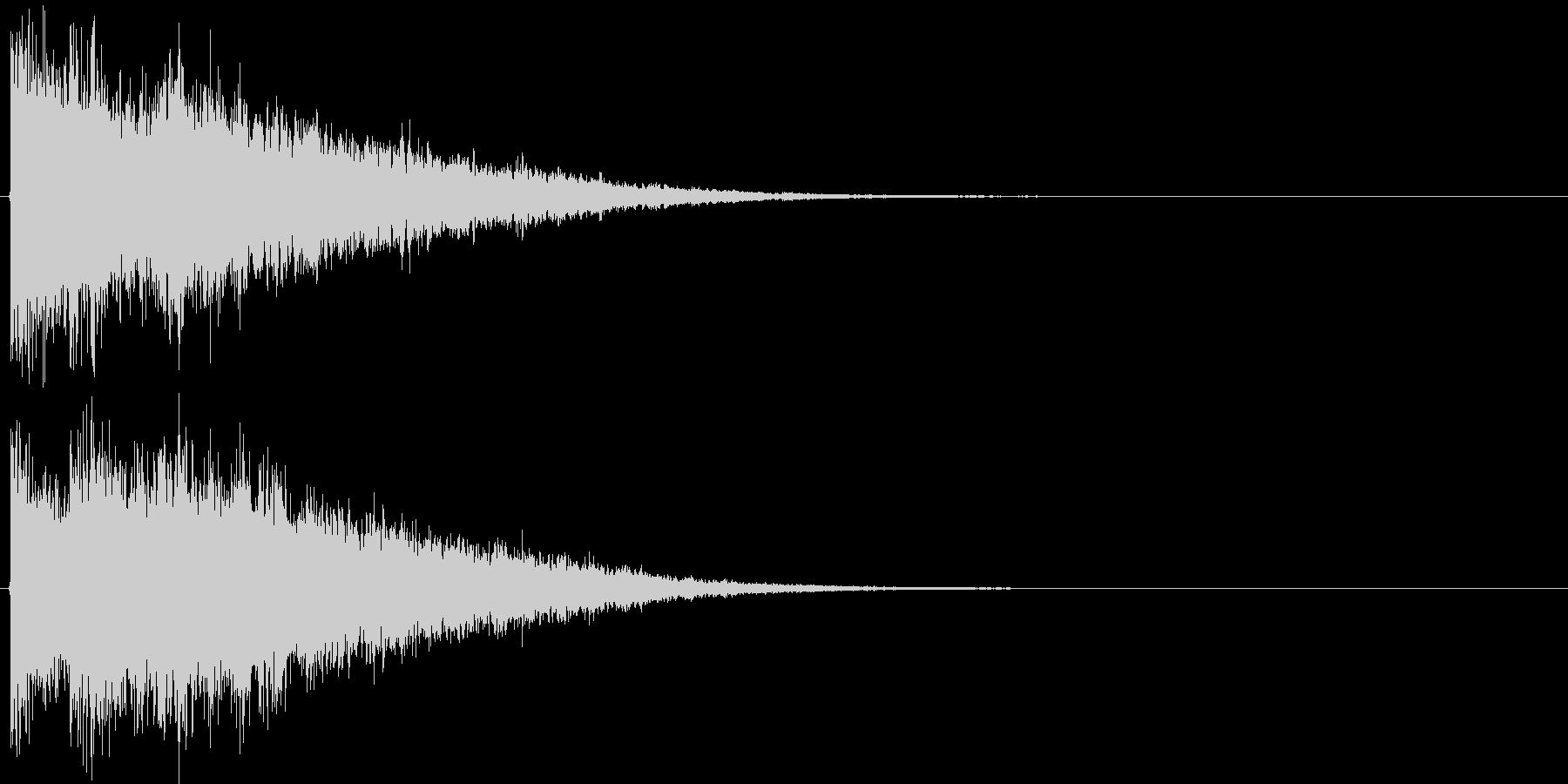 決定音・ボタン音(硬質・派手)1の未再生の波形