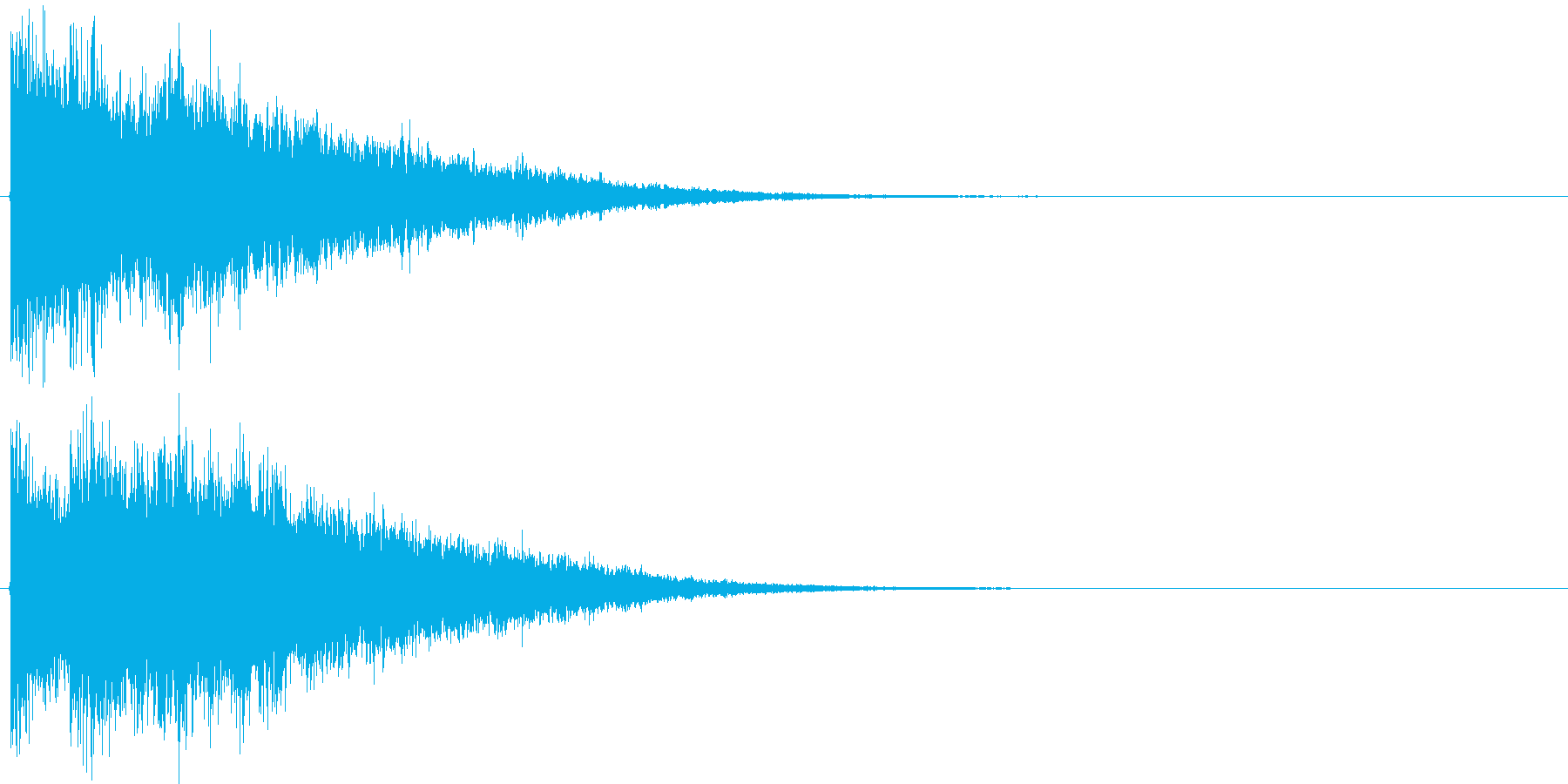 決定音・ボタン音(硬質・派手)1の再生済みの波形