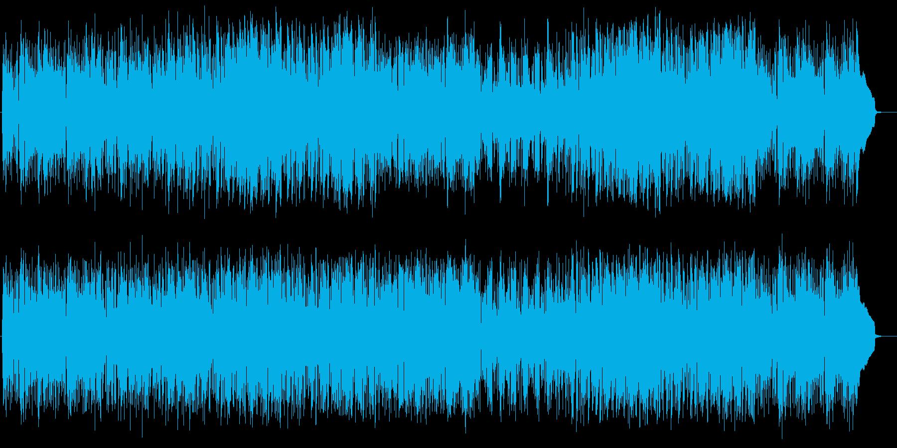 リズミカルで陽気な雰囲気の曲の再生済みの波形
