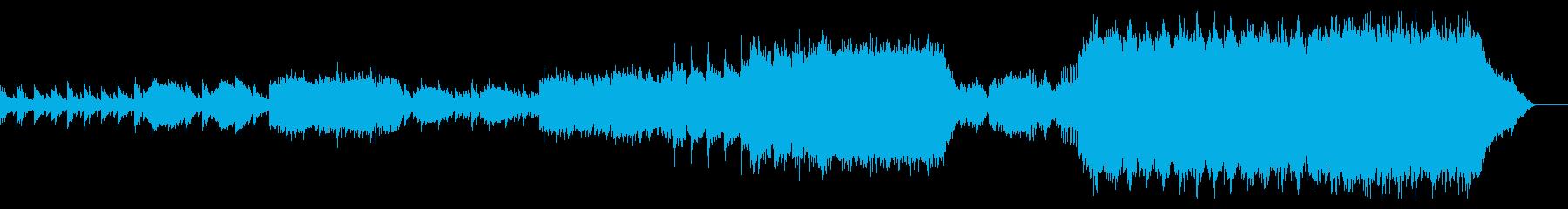 ピアノ×ギターのセンチメンタルな楽曲の再生済みの波形