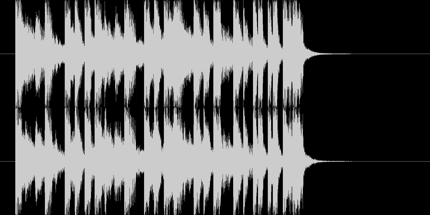 キラキラでかわいいジングル J4の未再生の波形