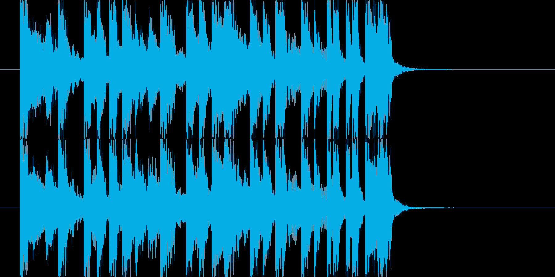 キラキラでかわいいジングル J4の再生済みの波形