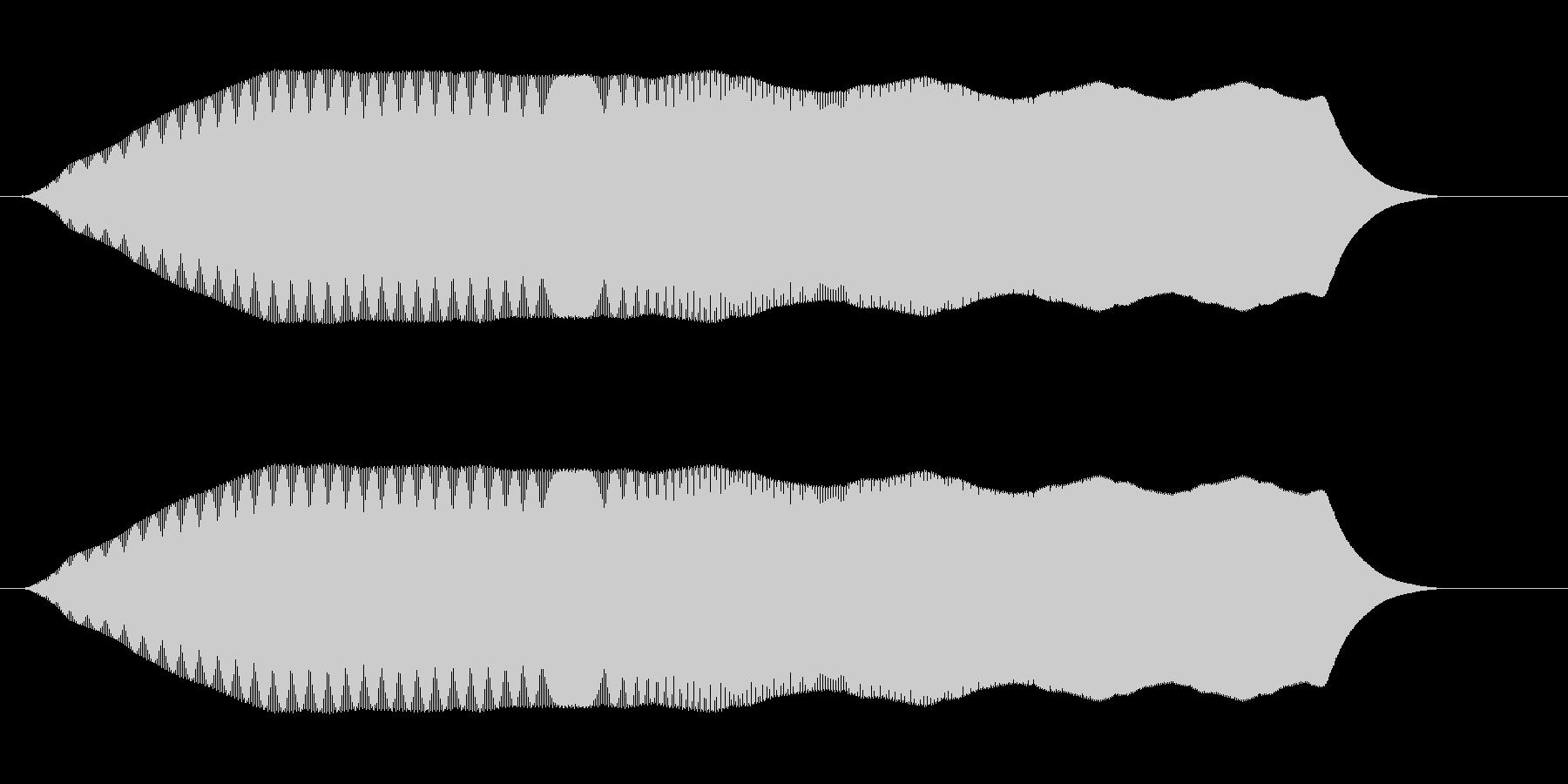 プワーム(弛緩した落下音、または疑問)の未再生の波形
