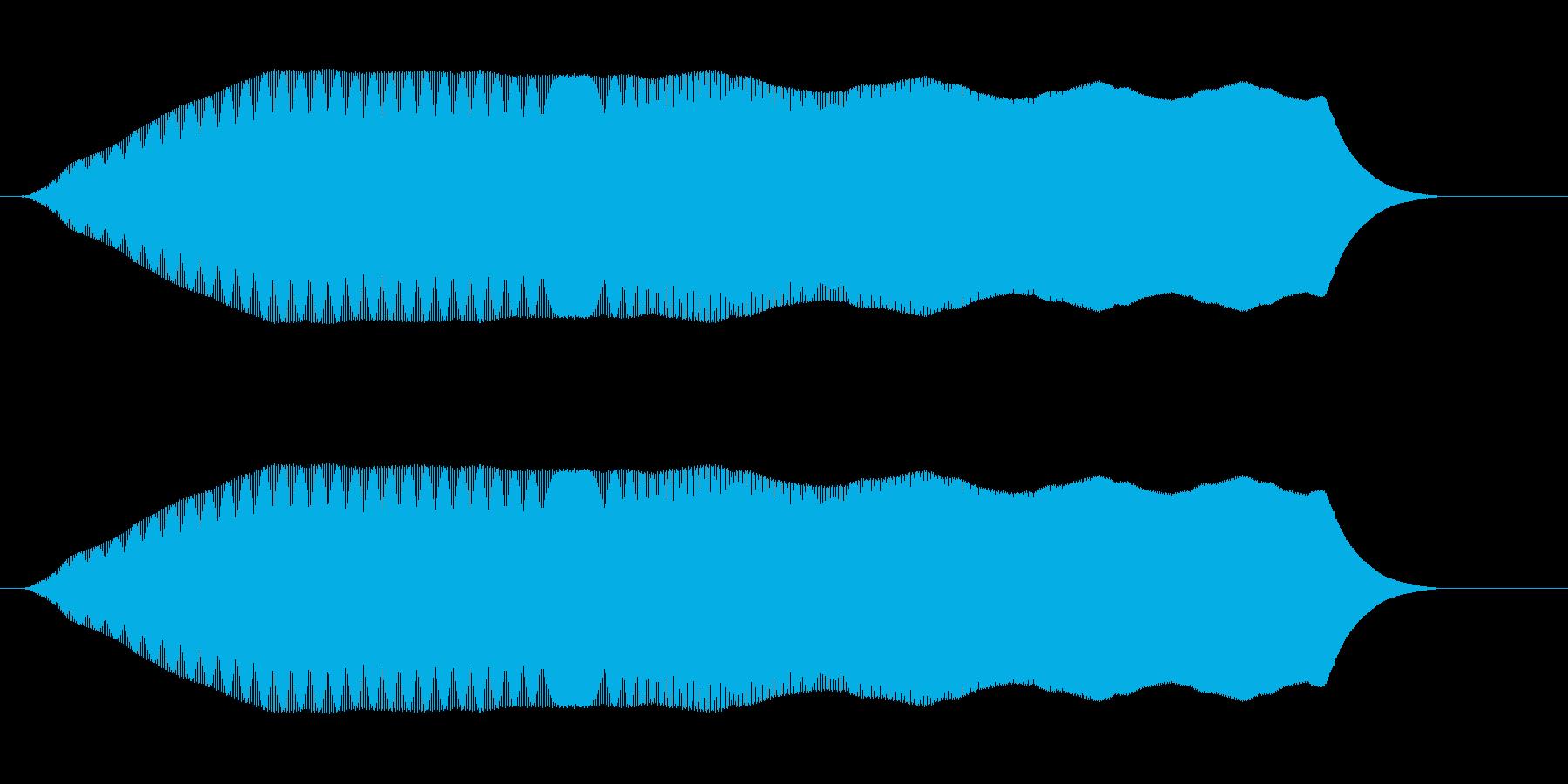 プワーム(弛緩した落下音、または疑問)の再生済みの波形