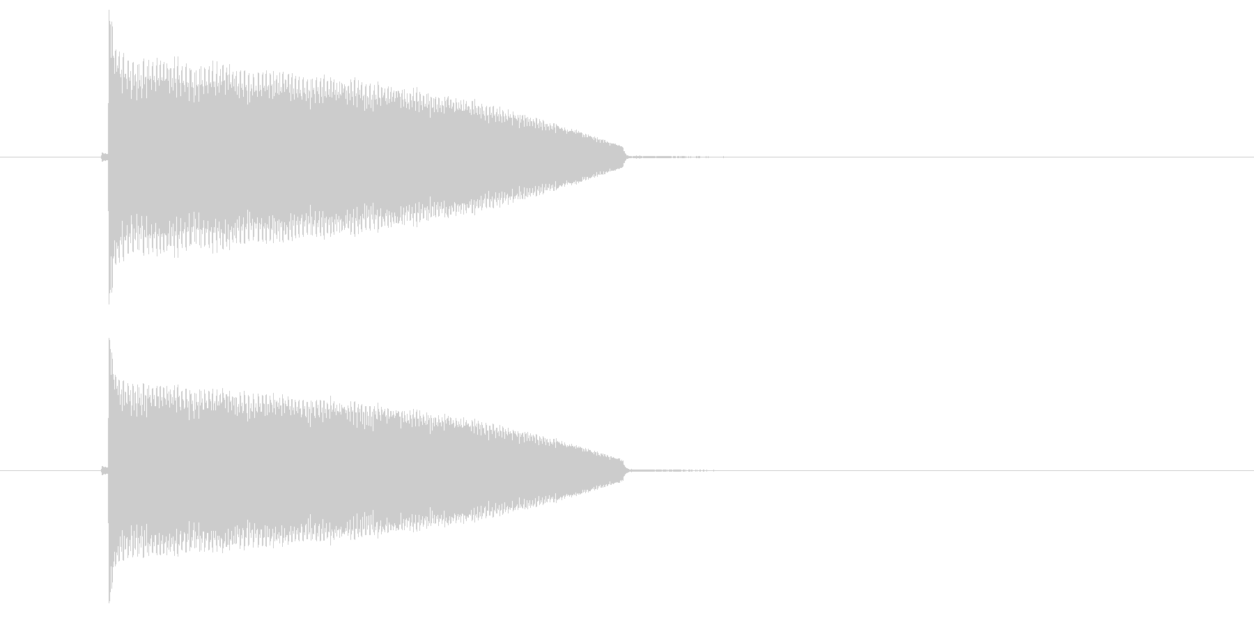 ポヨヨヨーン(ばね、コミカル)の未再生の波形