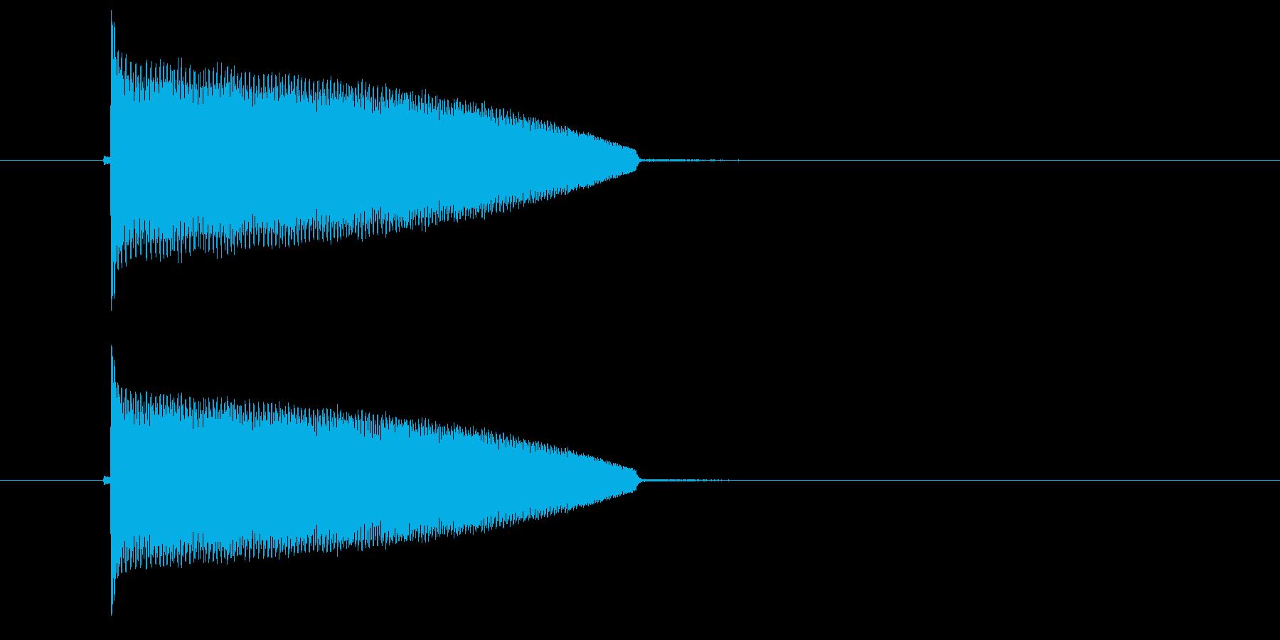 ポヨヨヨーン(ばね、コミカル)の再生済みの波形