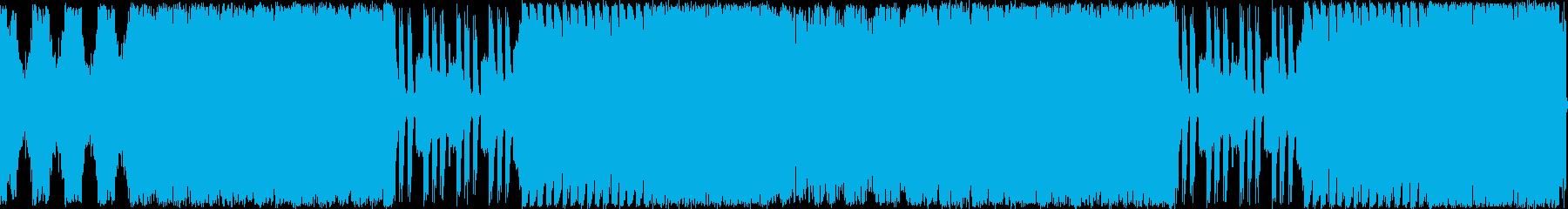 緊張感溢れるサイバーで骨太な楽曲ループの再生済みの波形